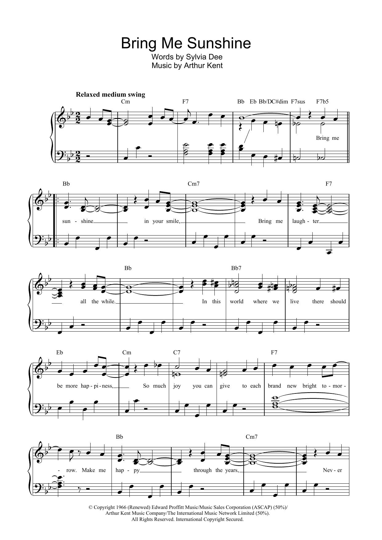 Bring Me Sunshine (Piano & Vocal)