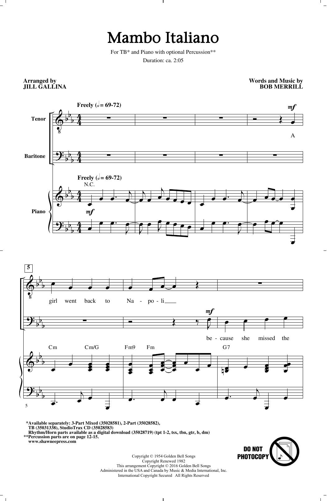Mambo Italiano (arr. Jill Gallina) (TB Choir)