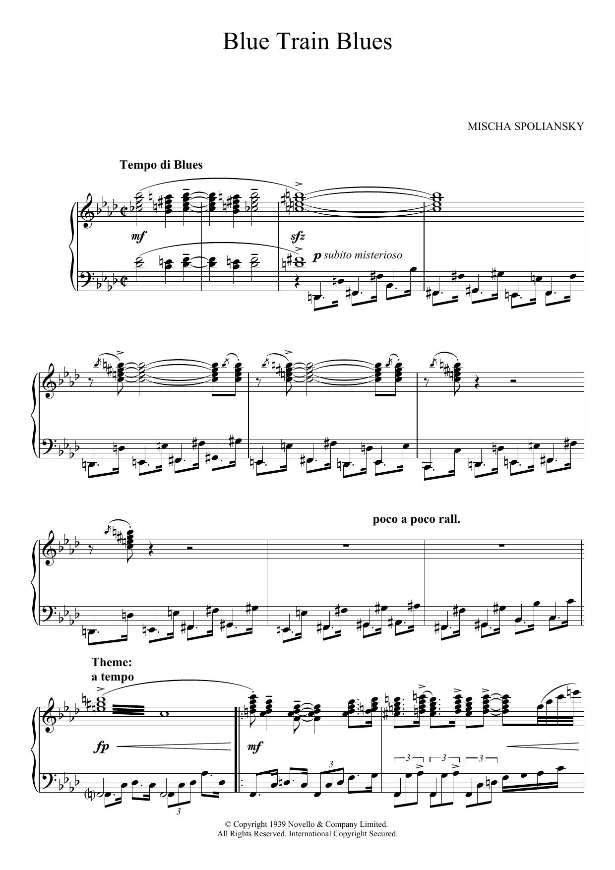 Blue Train Blues (Over The Moon) Sheet Music