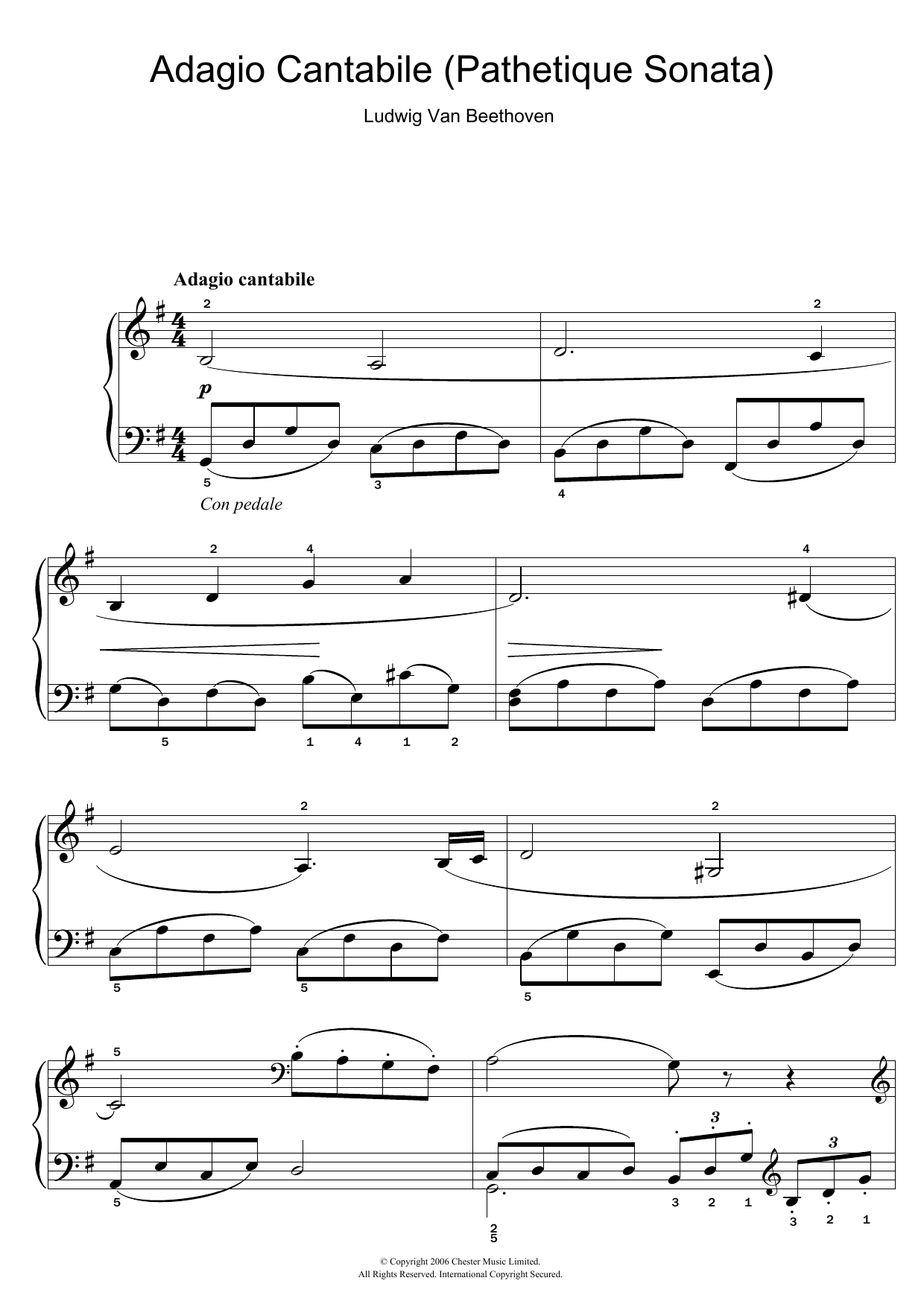 Sheet Music Digital Files To Print - Licensed Ludwig van