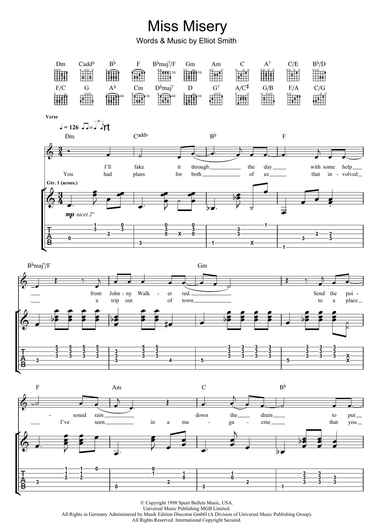 Miss Misery Sheet Music