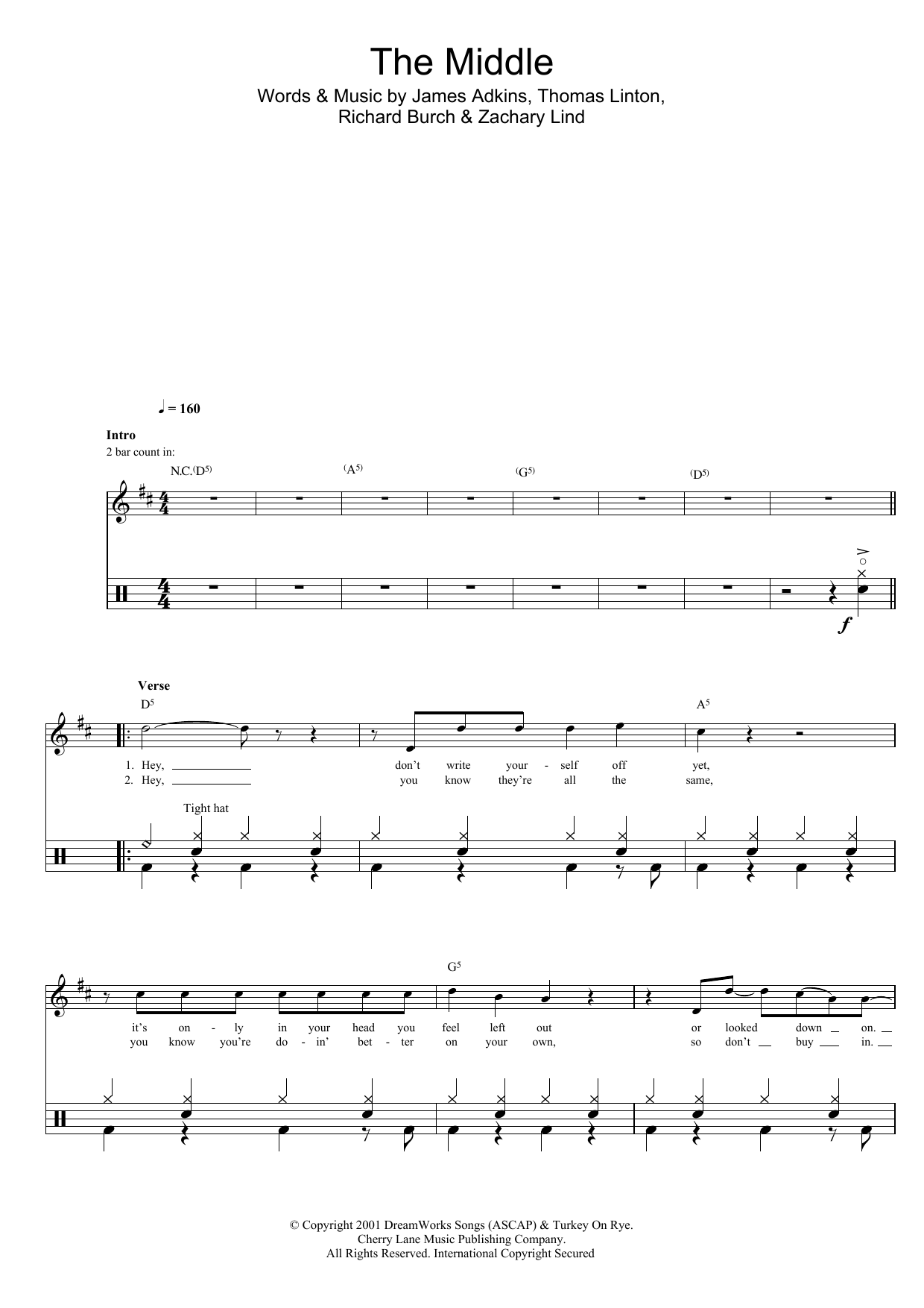 The Middle Sheet Music Direct