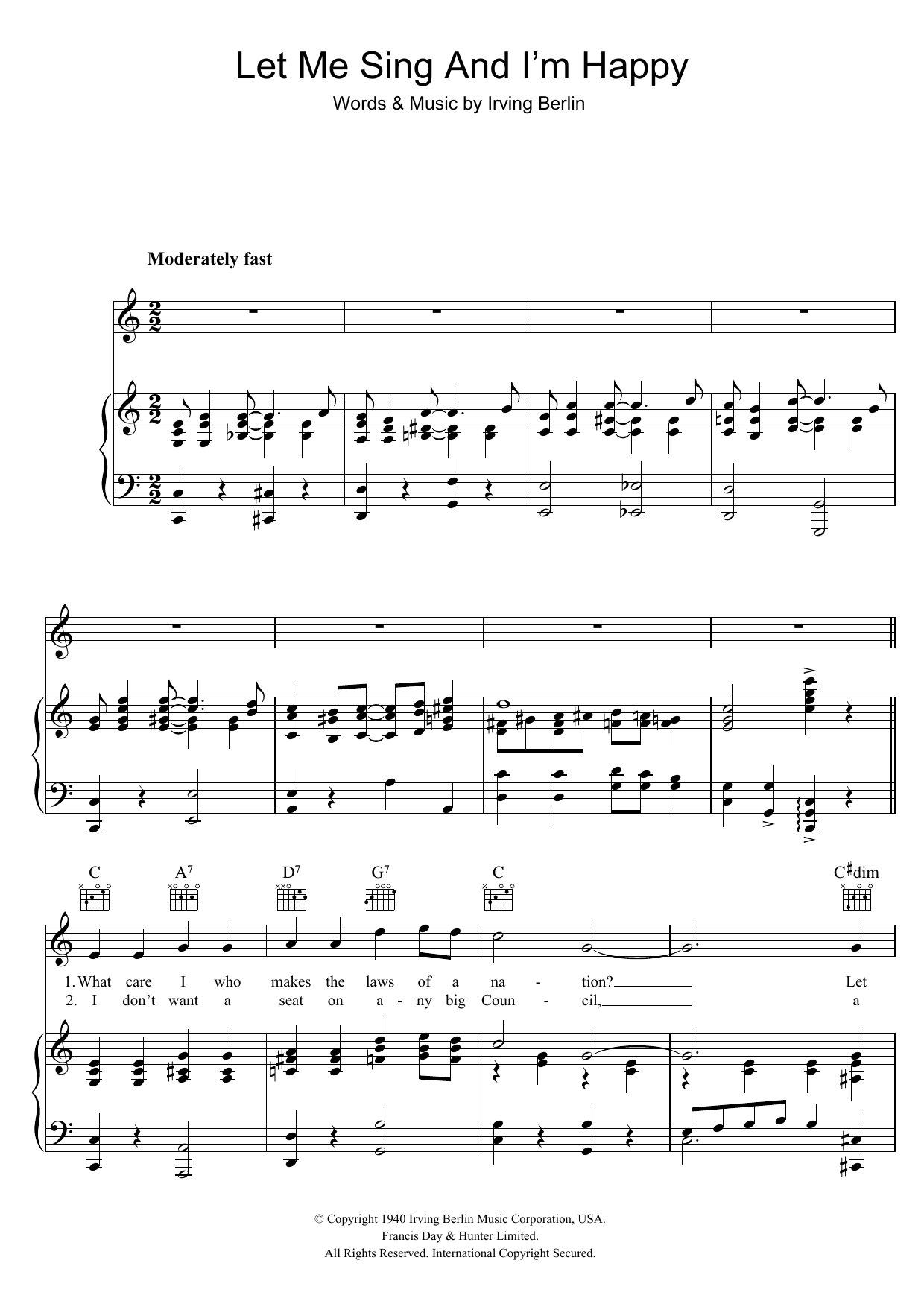 Let Me Sing And I'm Happy (Piano, Vocal & Guitar)