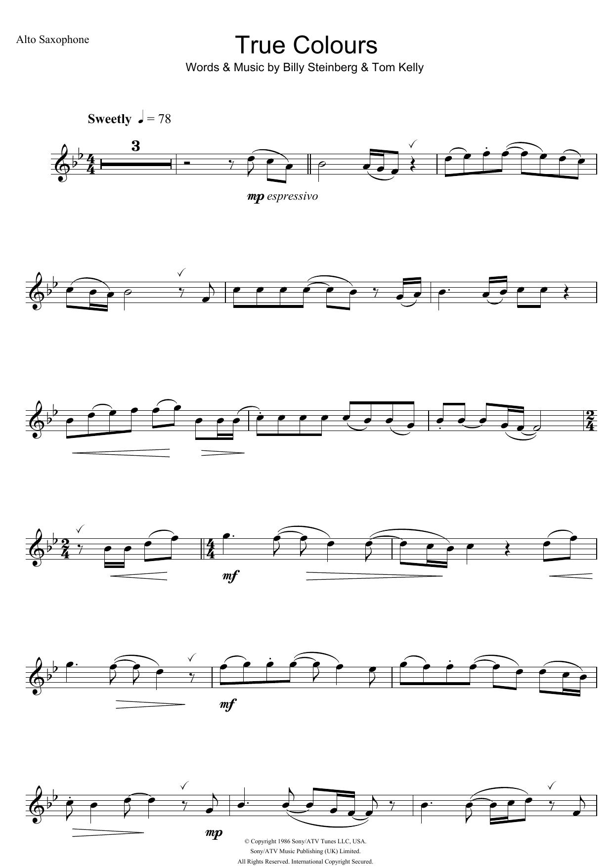 True Colours by Eva Cassidy Piano, Vocal & Guitar Digital Sheet Music