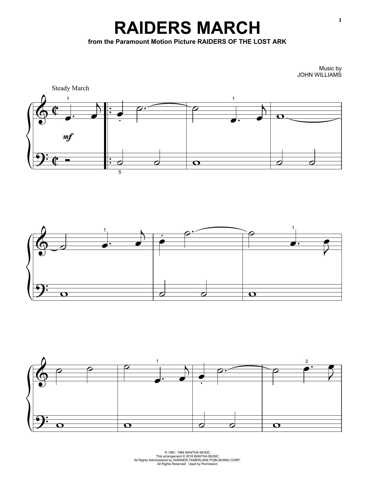 Raiders March (Big Note Piano)