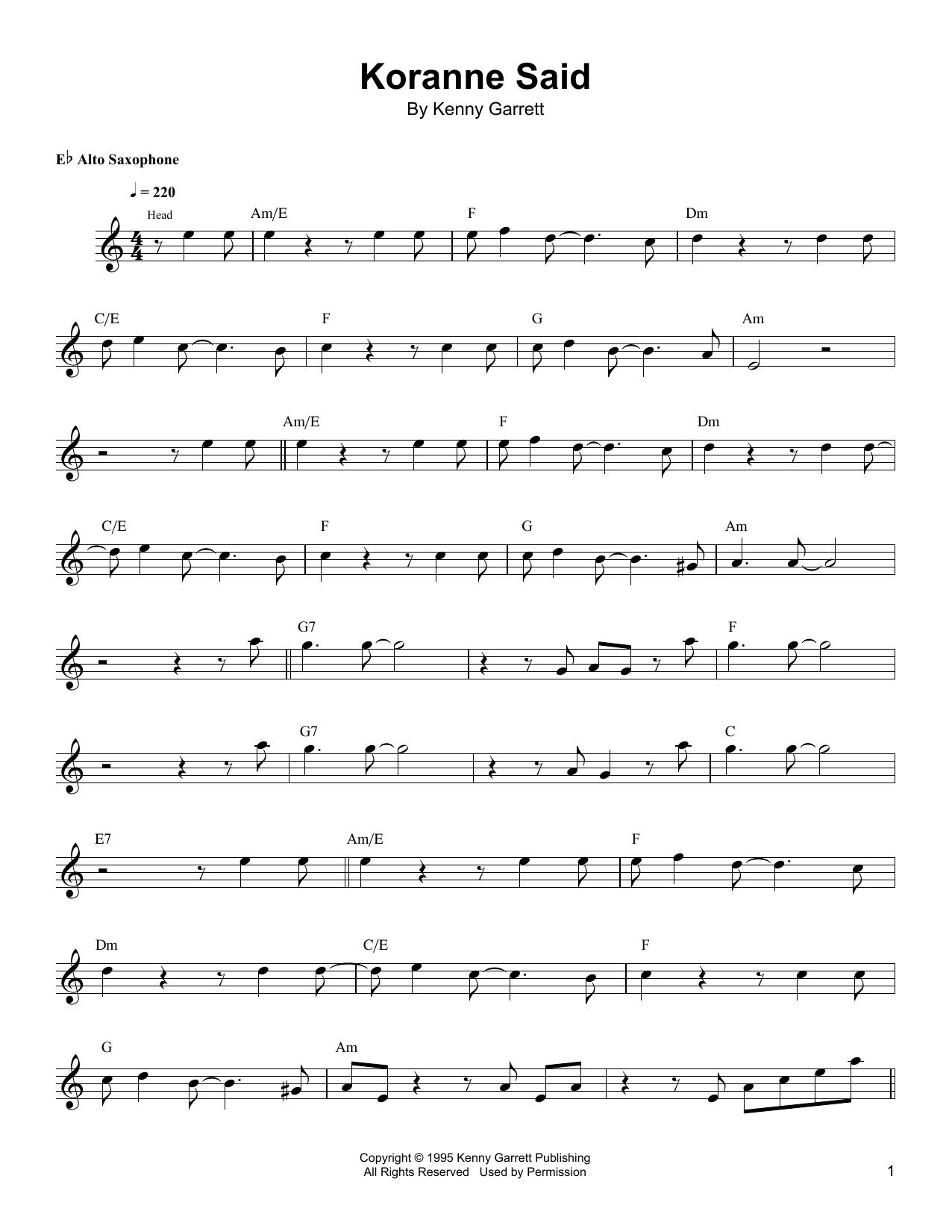 Koranne Said Sheet Music