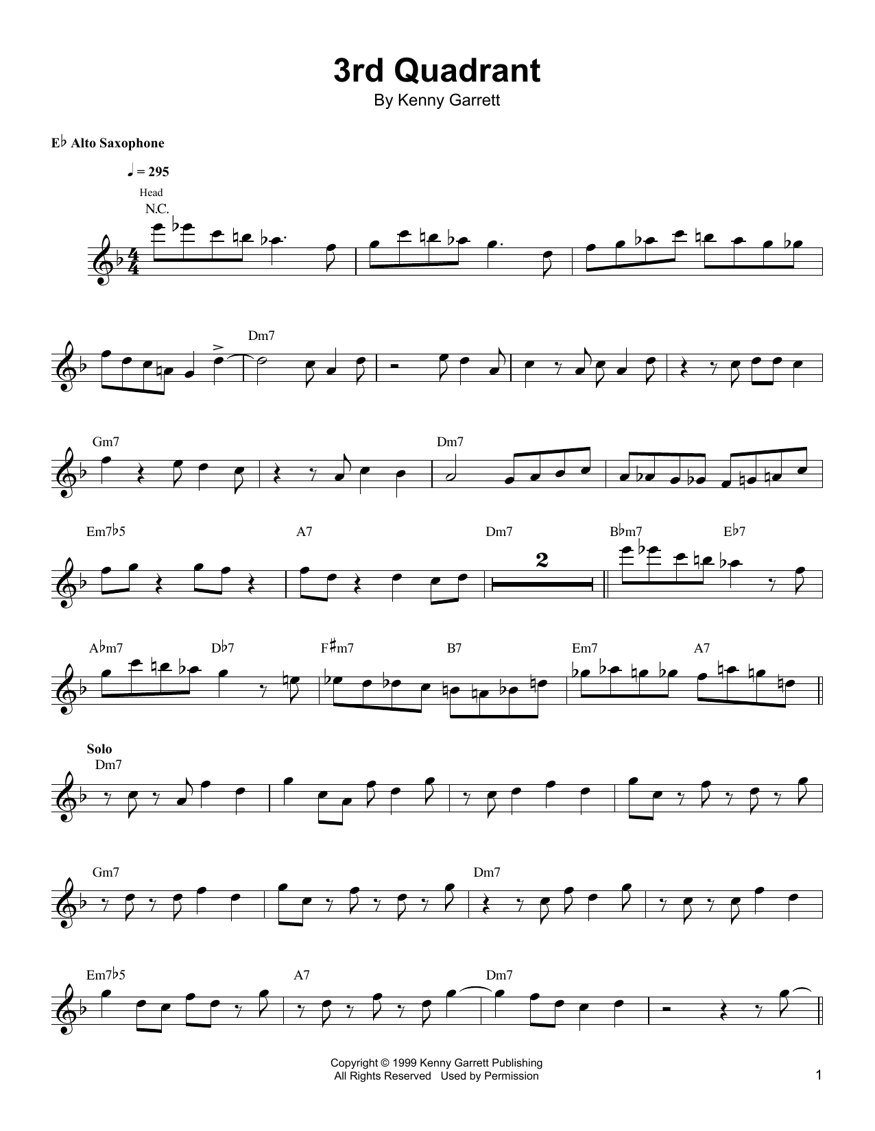3rd Quadrant Sheet Music