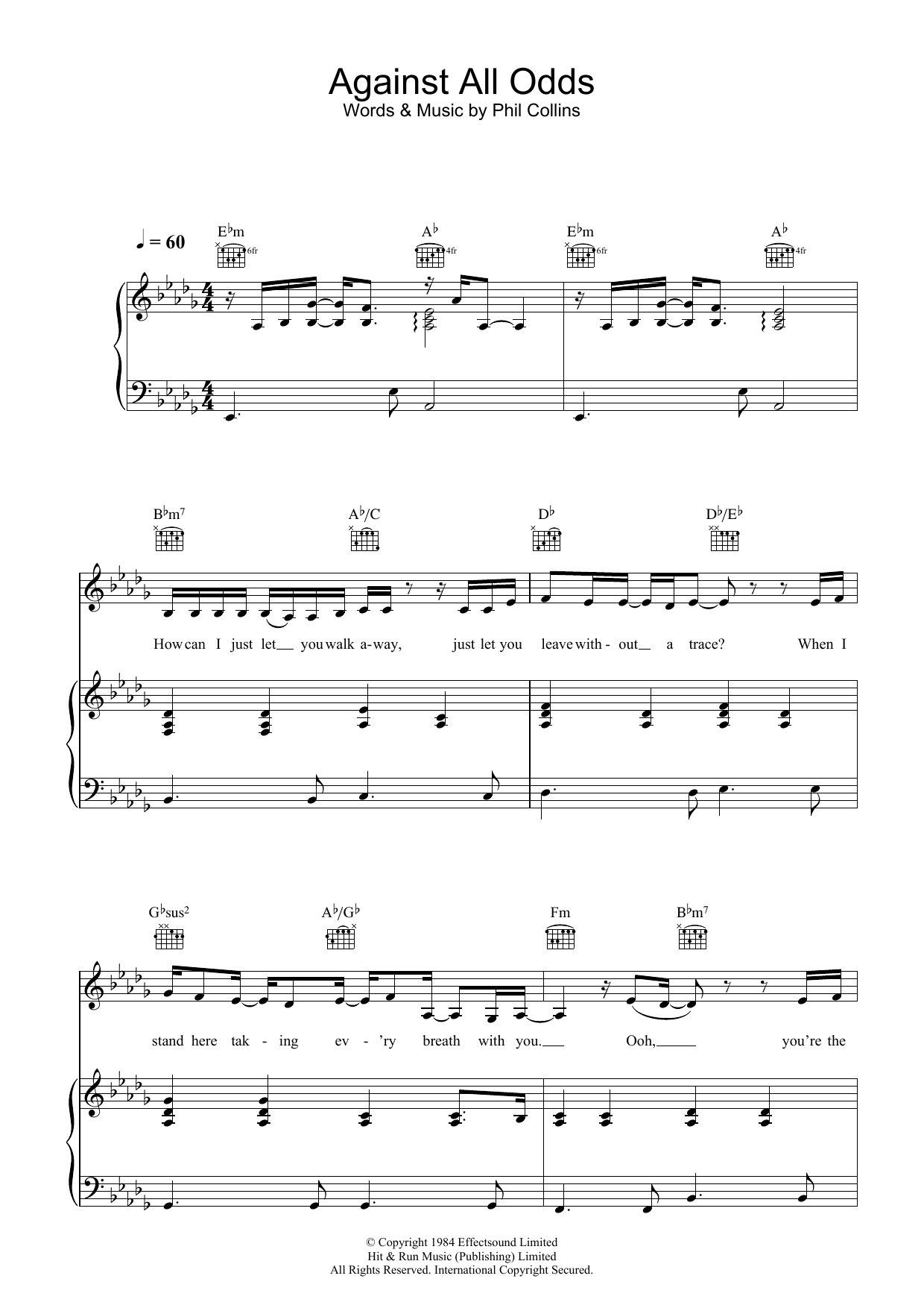 Against All Odds (Take A Look At Me Now) | Sheet Music Direct | 1240 x 1754 png 121kB