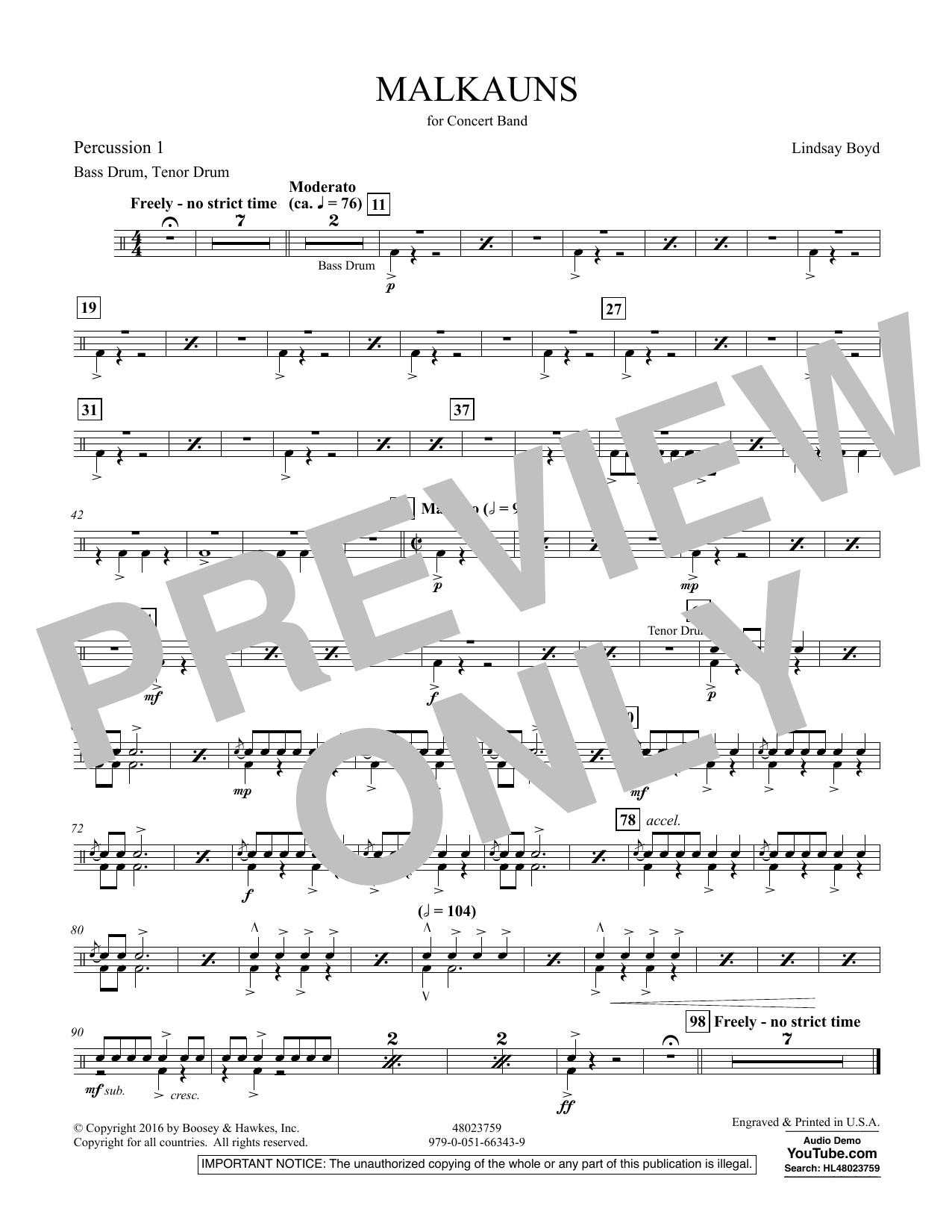 Malkauns - Percussion 1 Sheet Music