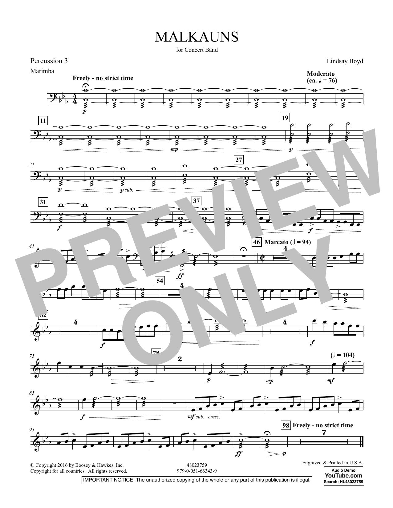 Malkauns - Percussion 3 Sheet Music