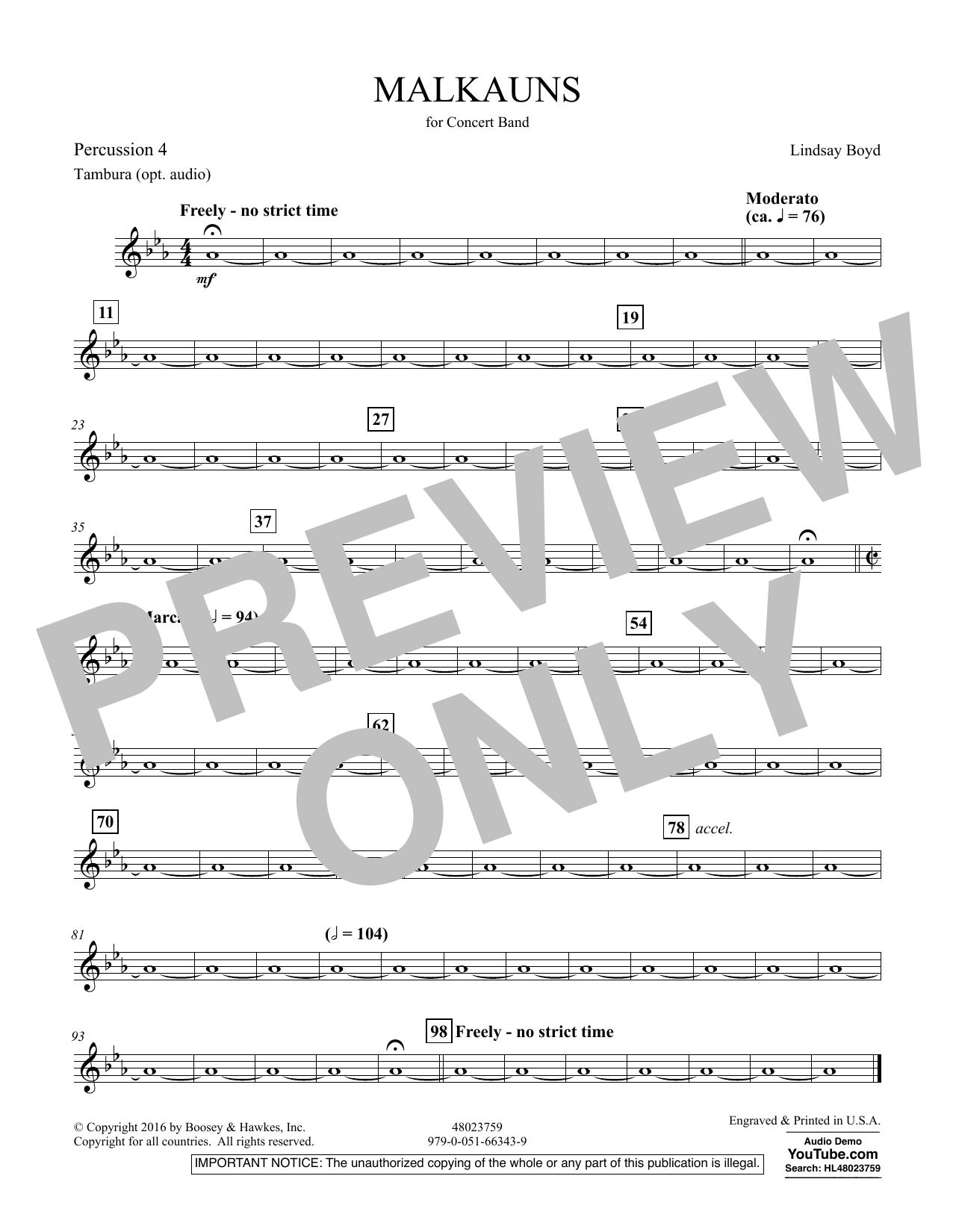 Malkauns - Percussion 4 Sheet Music