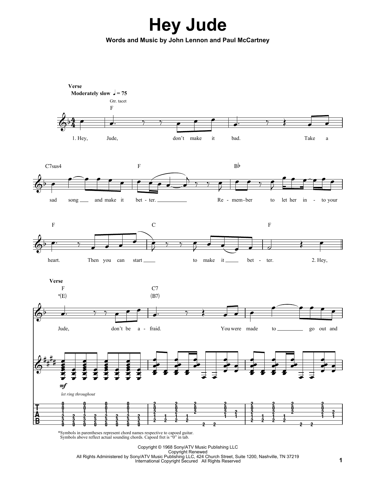 Hey Jude : Sheet Music Direct
