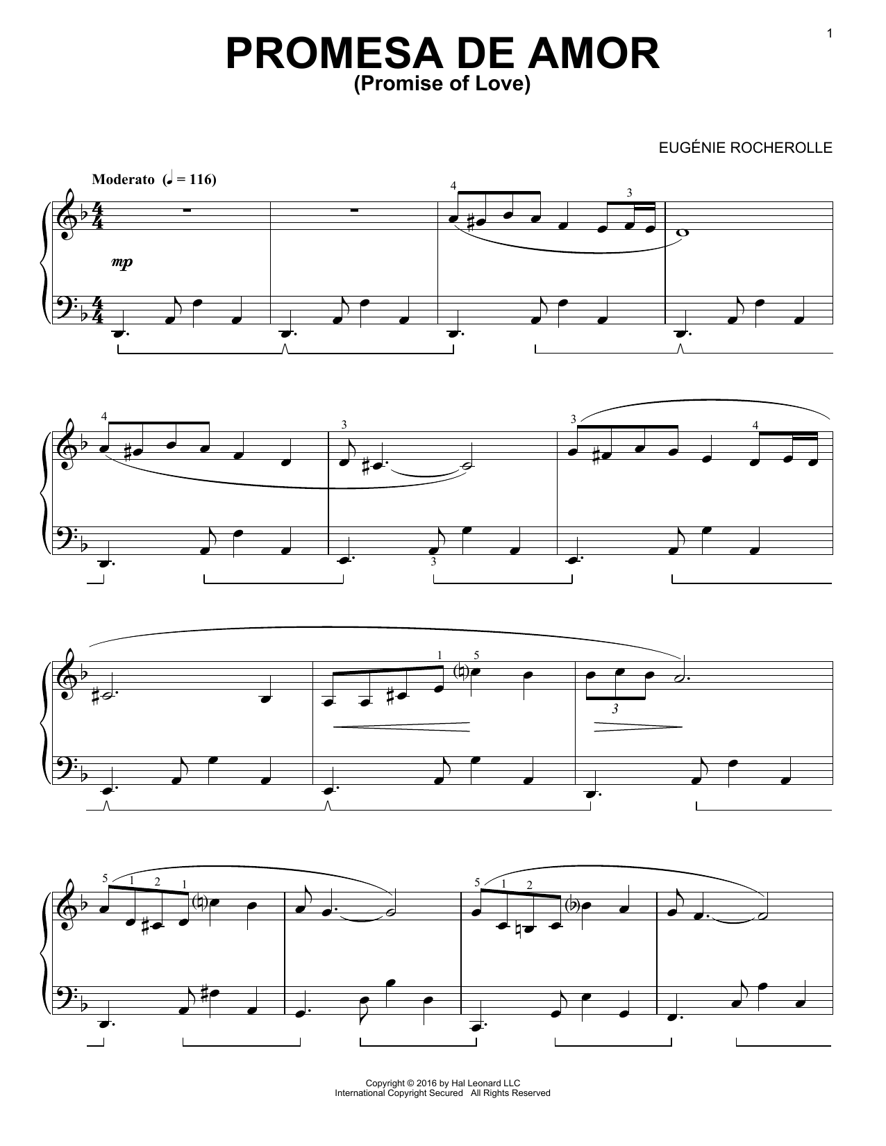 Fantasia del Tango - NFMC 2020-2024 Selection The EugTnie Rocherolle Series Intermediate Piano Solos by Eugenie R. Rocherolle