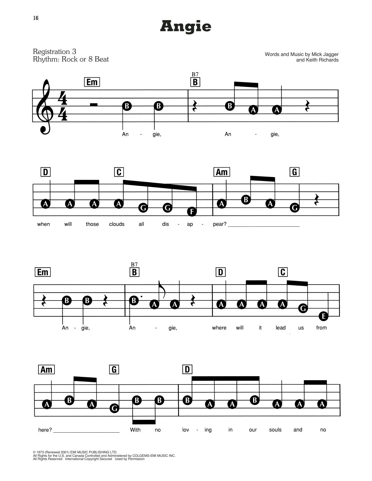 Angie Sheet Music