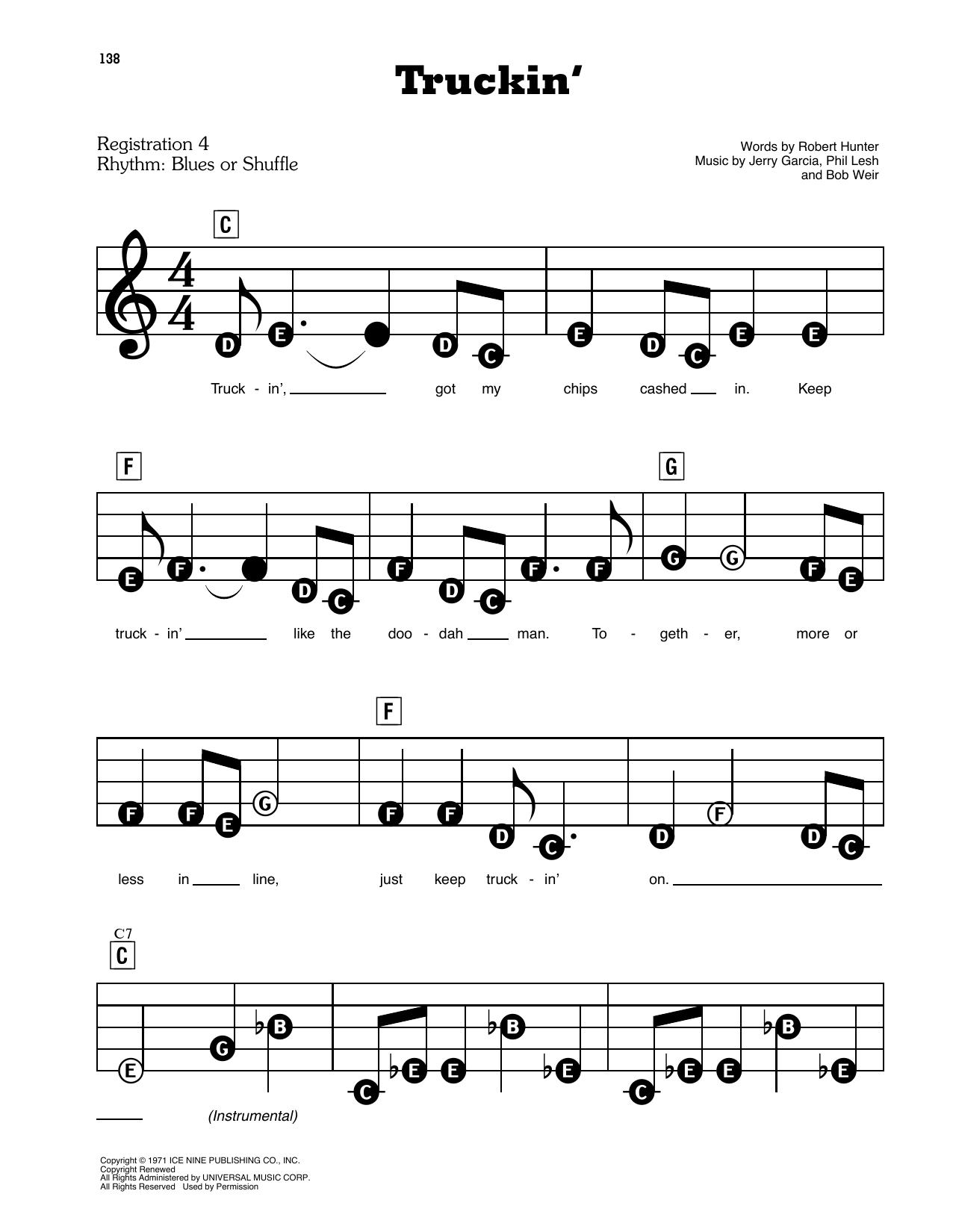 Truckin' Sheet Music
