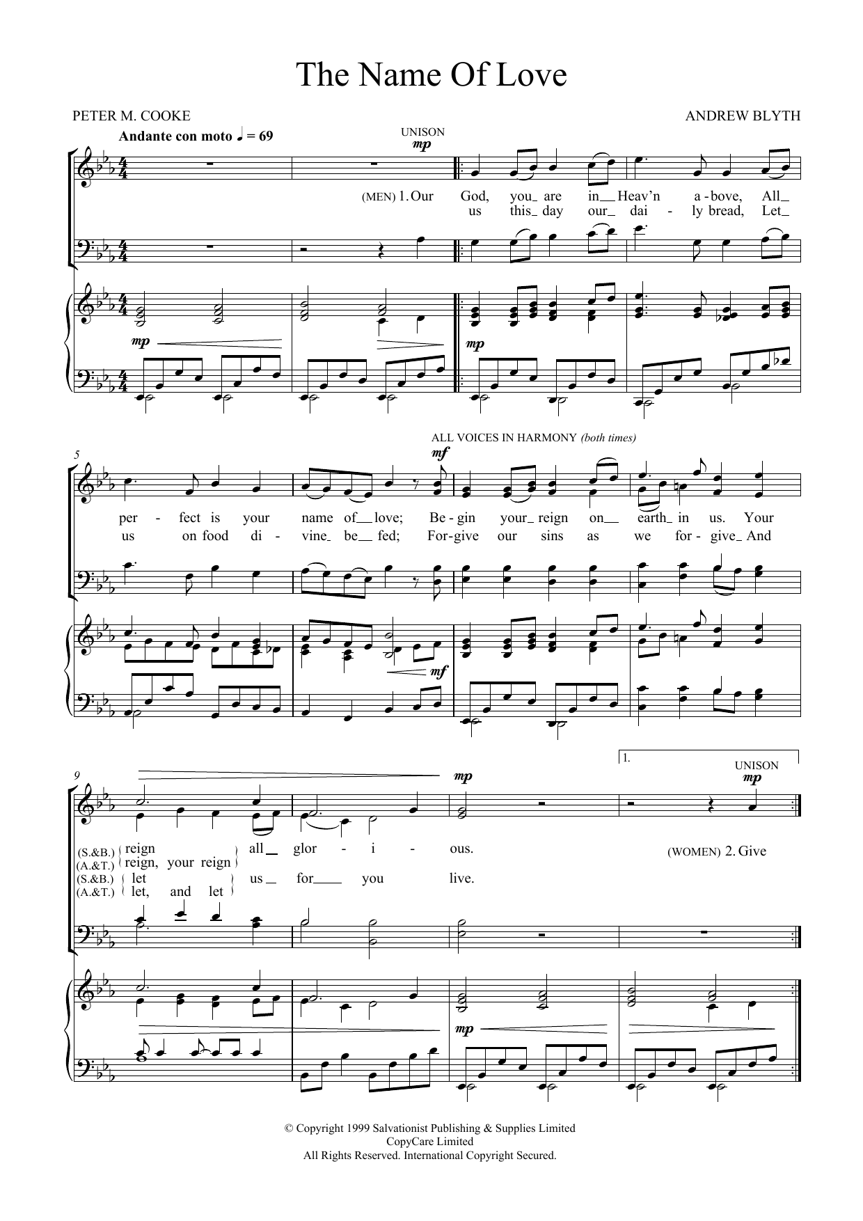 The Name Of Love Sheet Music