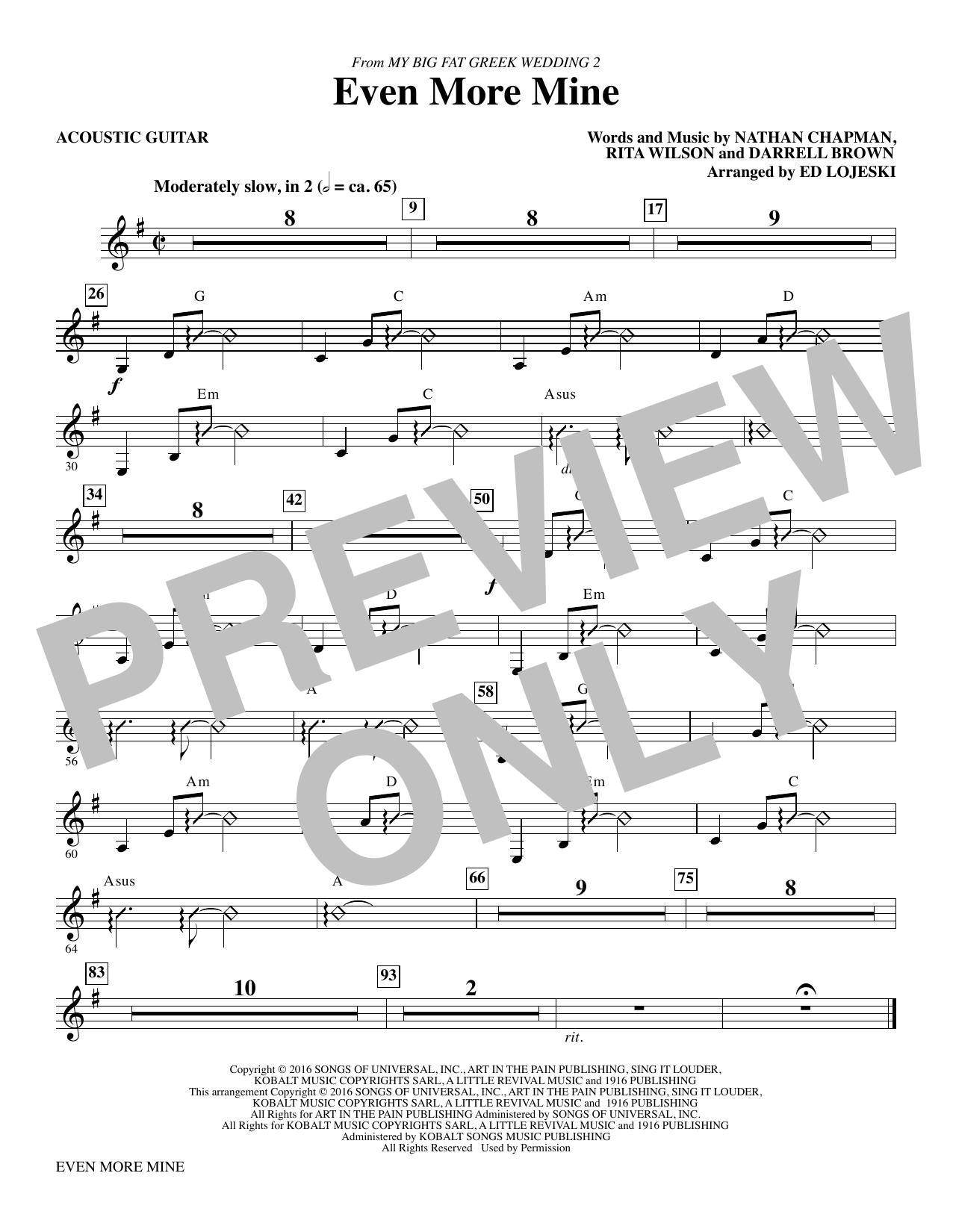 Even More Mine - Acoustic Guitar Sheet Music