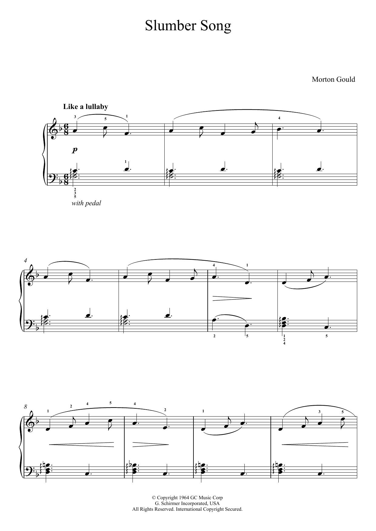 Slumber Song (From 'At The Piano') Sheet Music