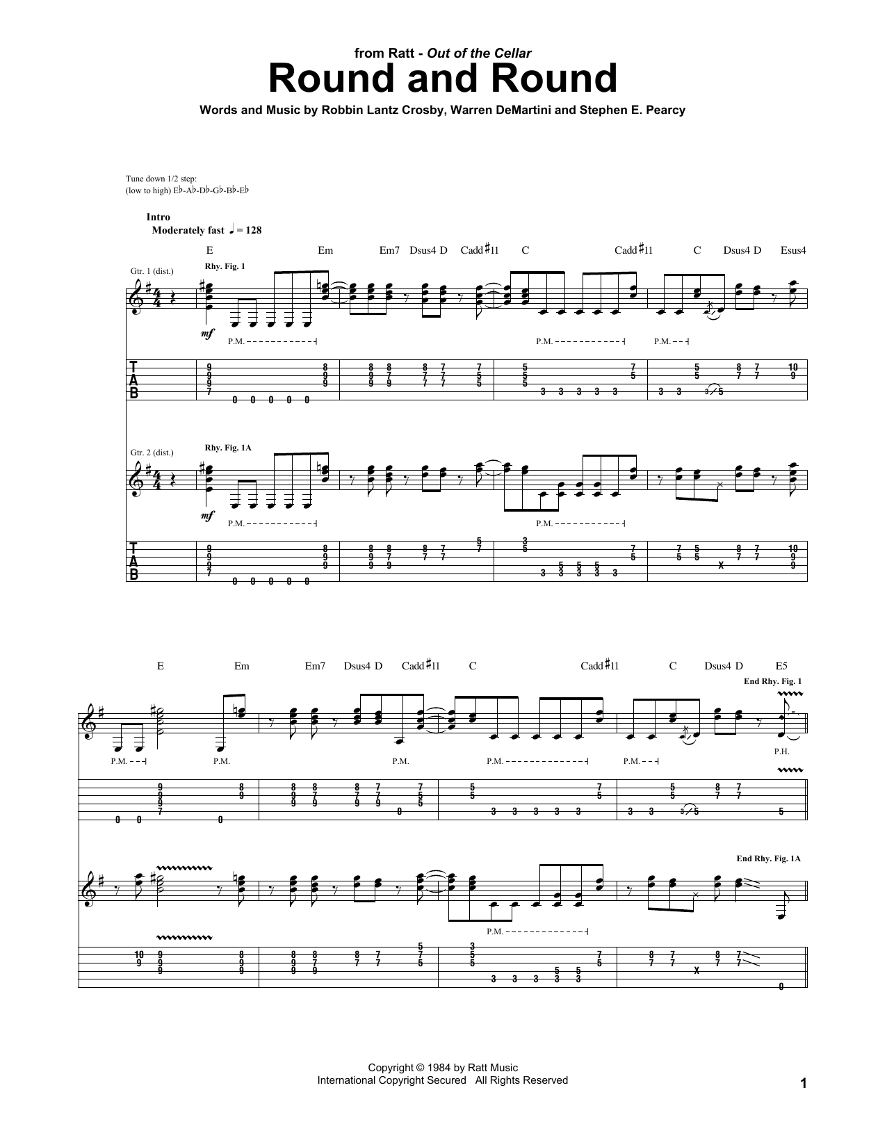 Round And Round Sheet Music