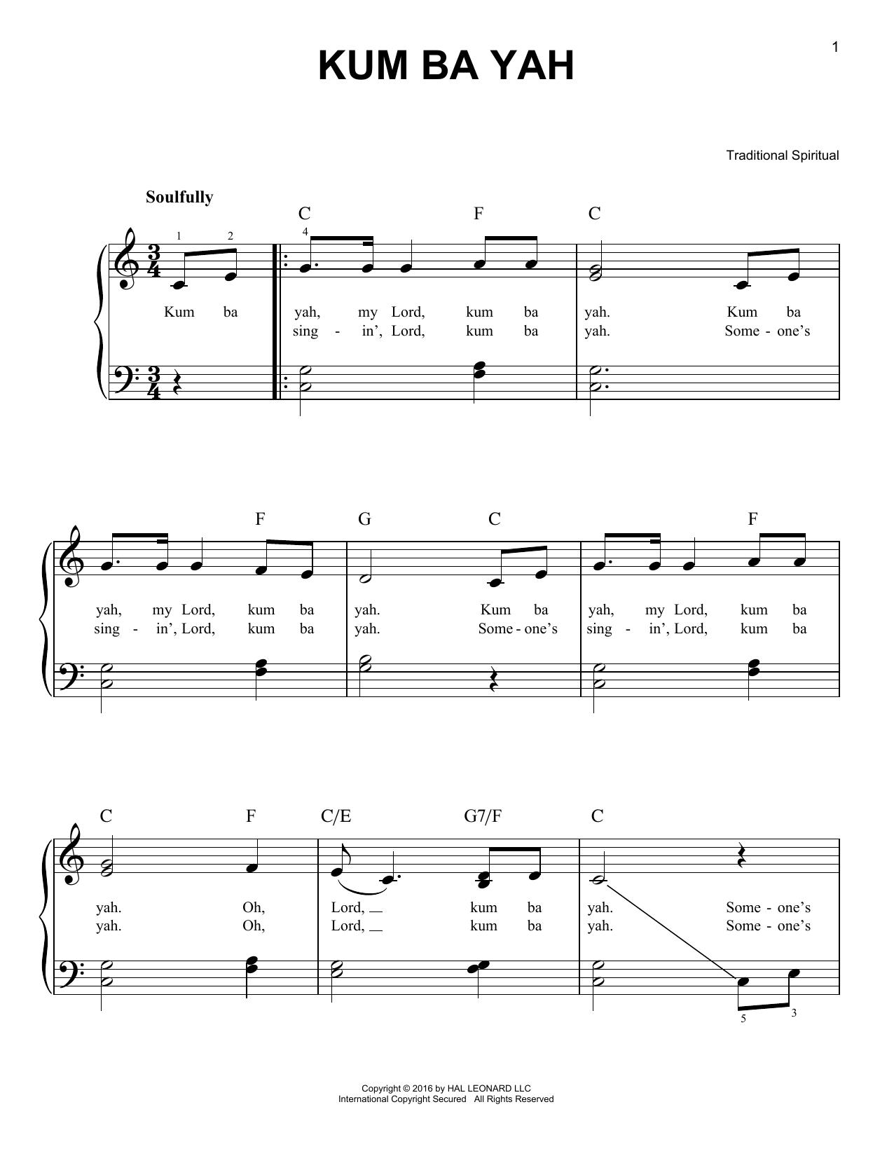 Kum Ba Yah (Very Easy Piano)