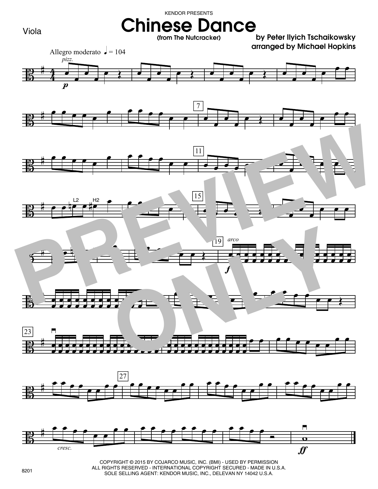 Chinese Dance (from The Nutcracker) - Viola Sheet Music