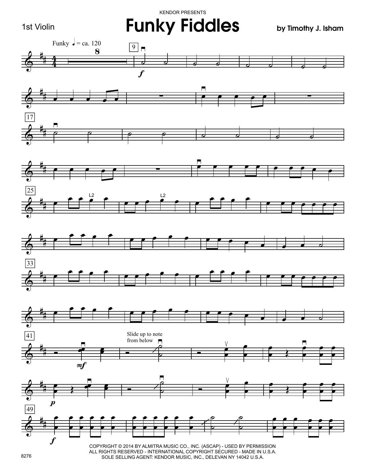 Funky Fiddles - 1st Violin Sheet Music