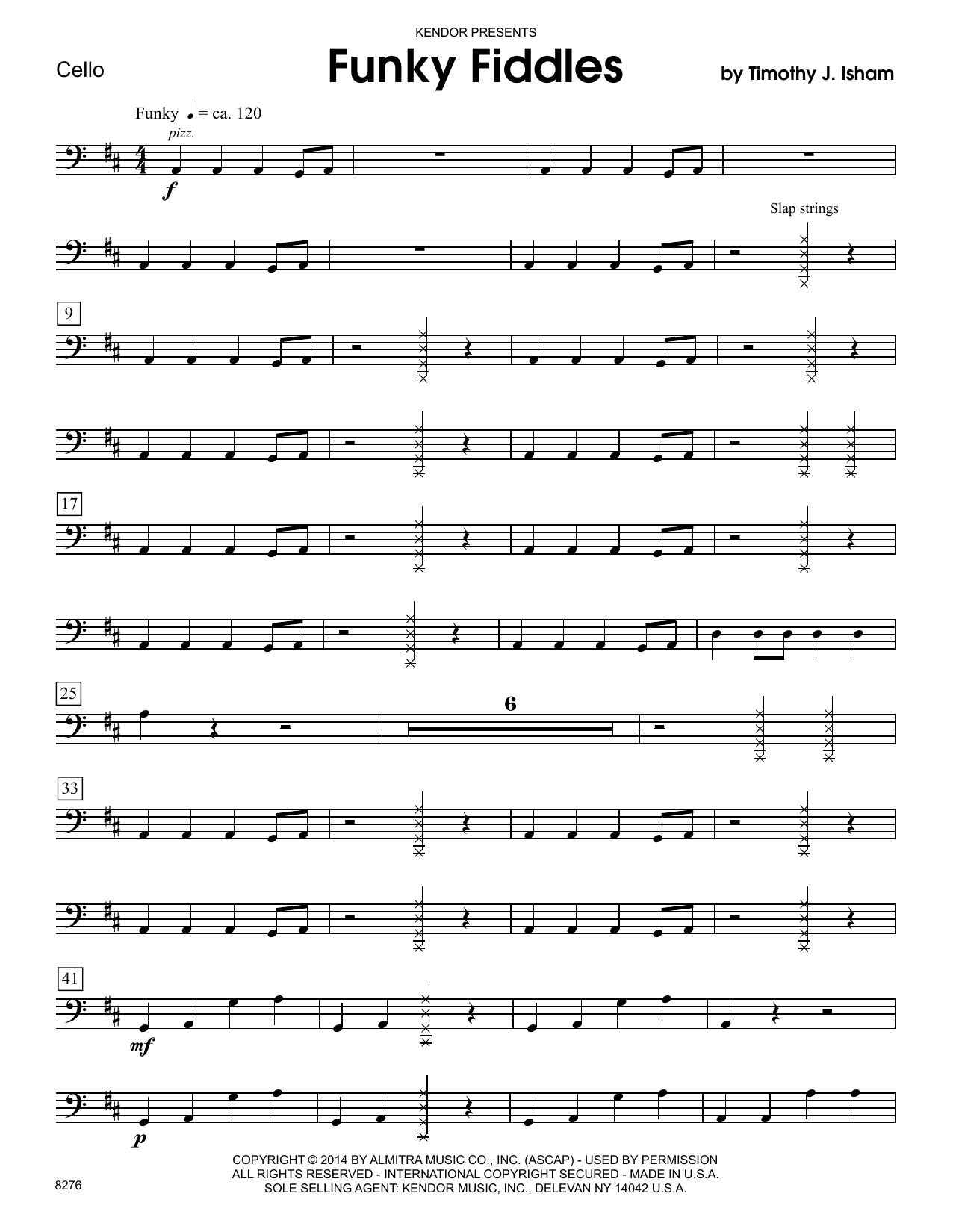 Funky Fiddles - Cello Sheet Music