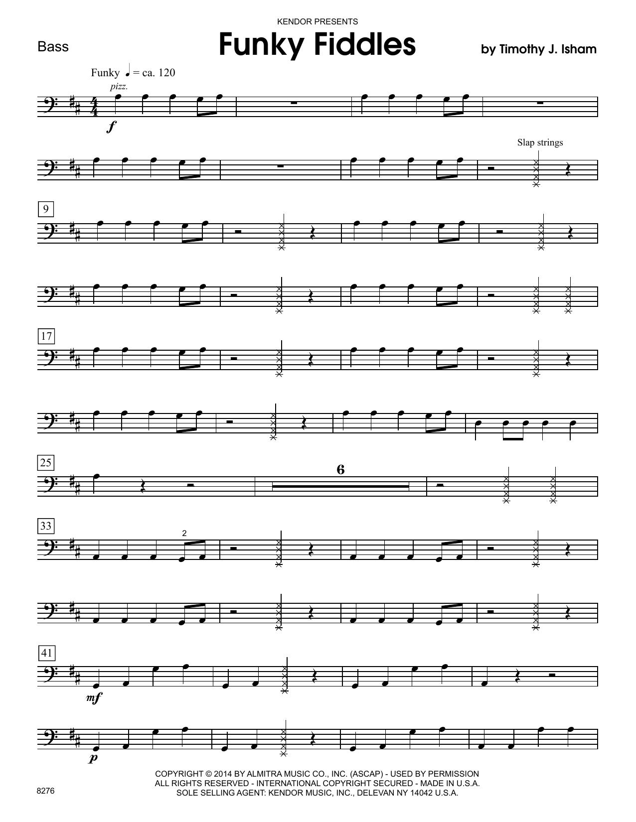 Funky Fiddles - Bass Sheet Music