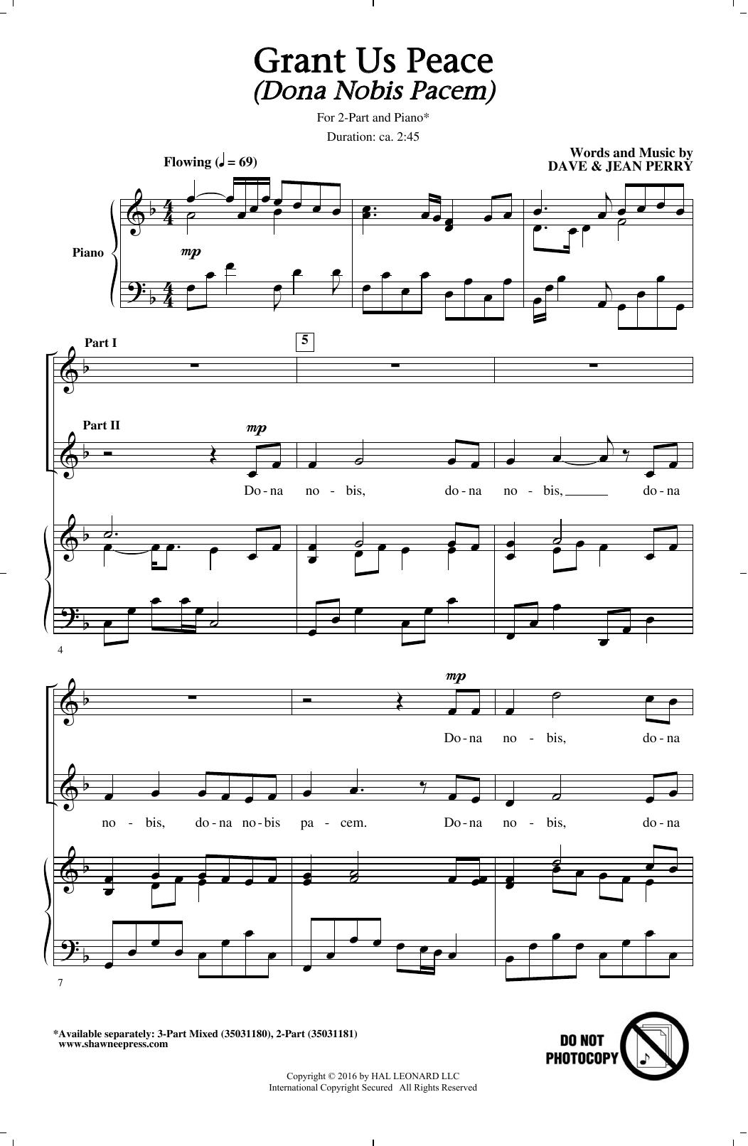 Grant Us Peace (Dona Nobis Pacem) Sheet Music