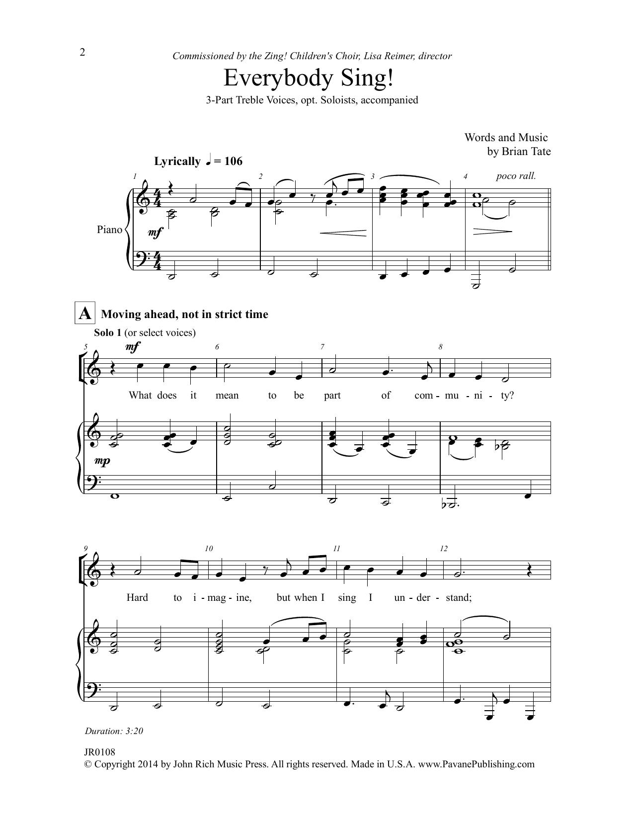 Everybody Sing! Sheet Music