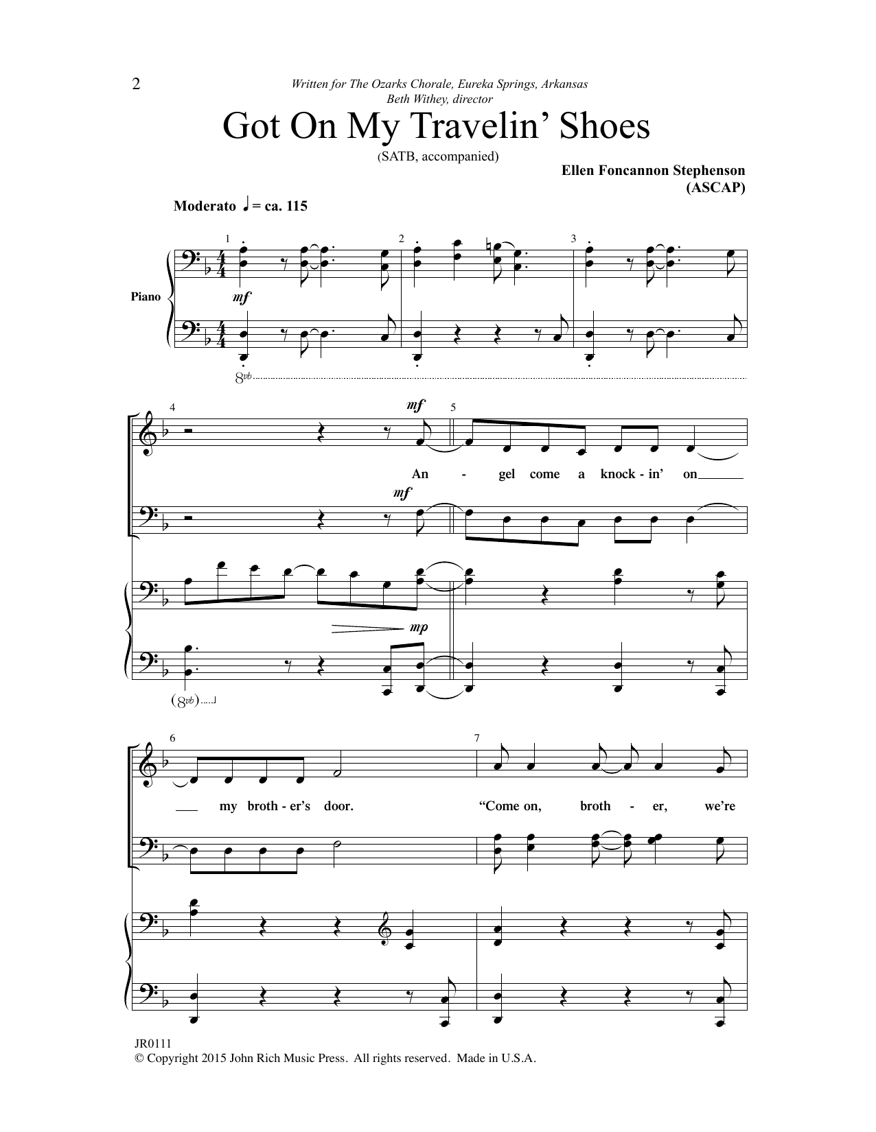 Got on My Travelin' Shoes Sheet Music