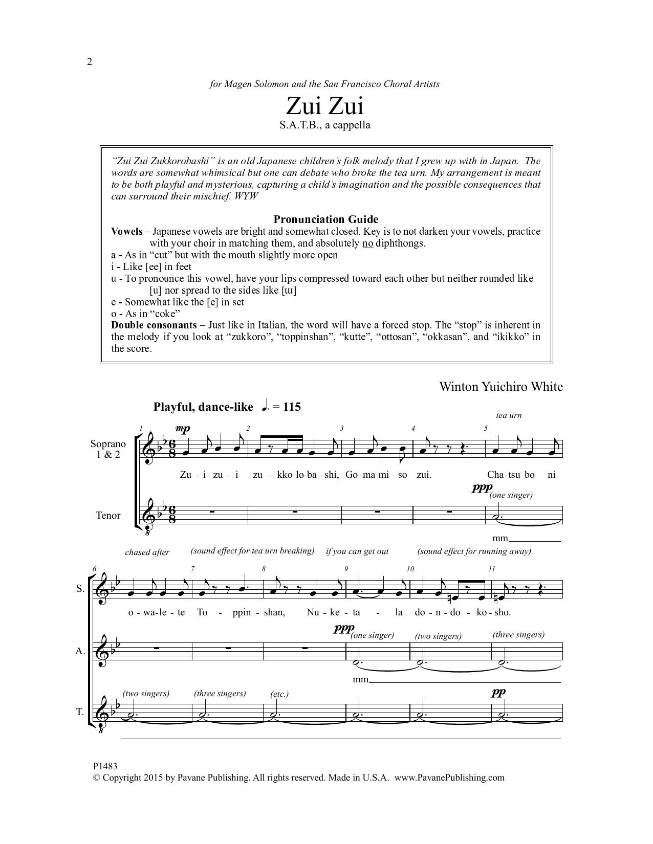 Zui Zui Sheet Music