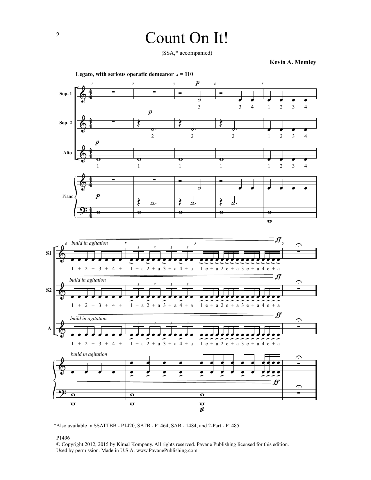 Count On It Sheet Music