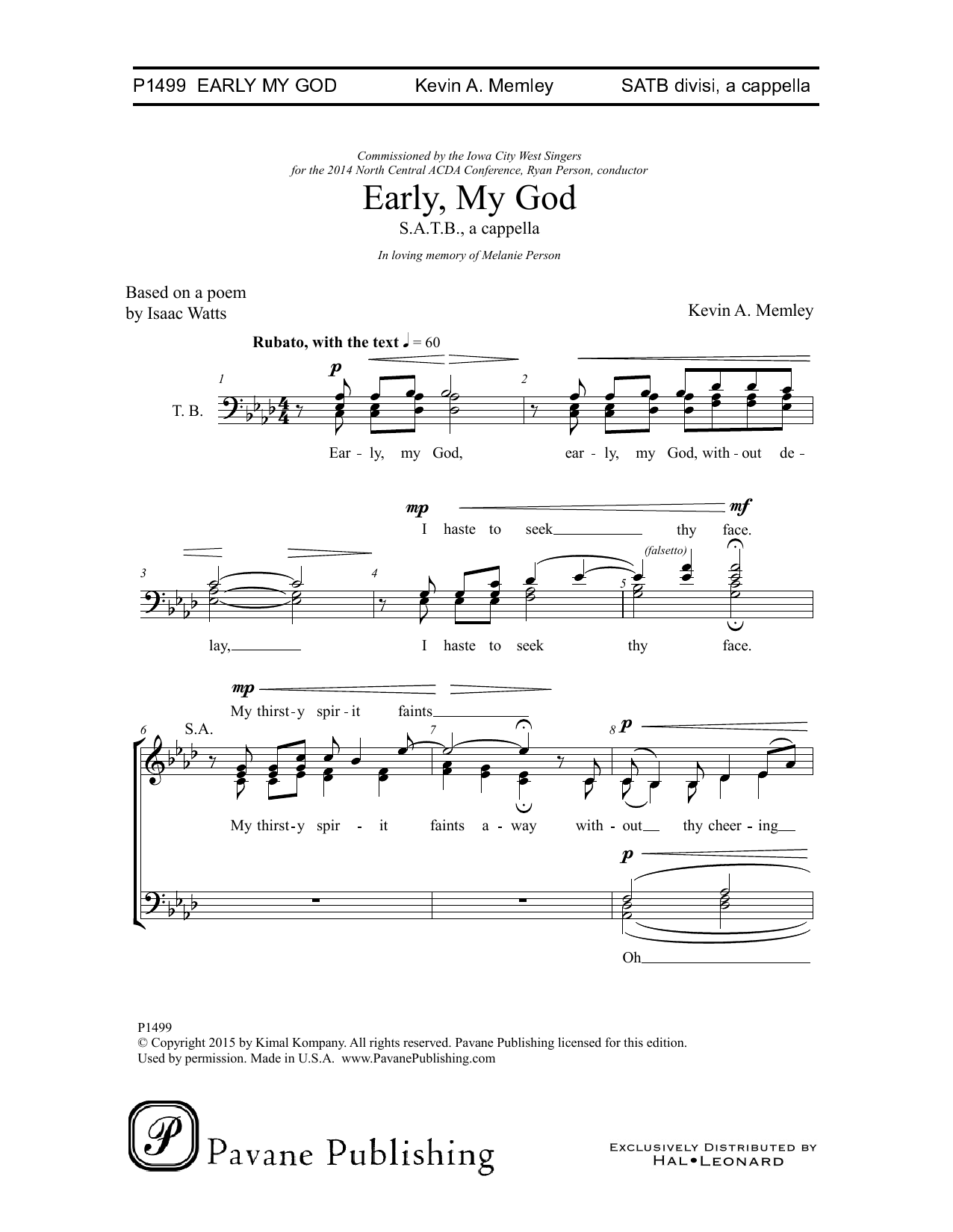 Early, My God Sheet Music