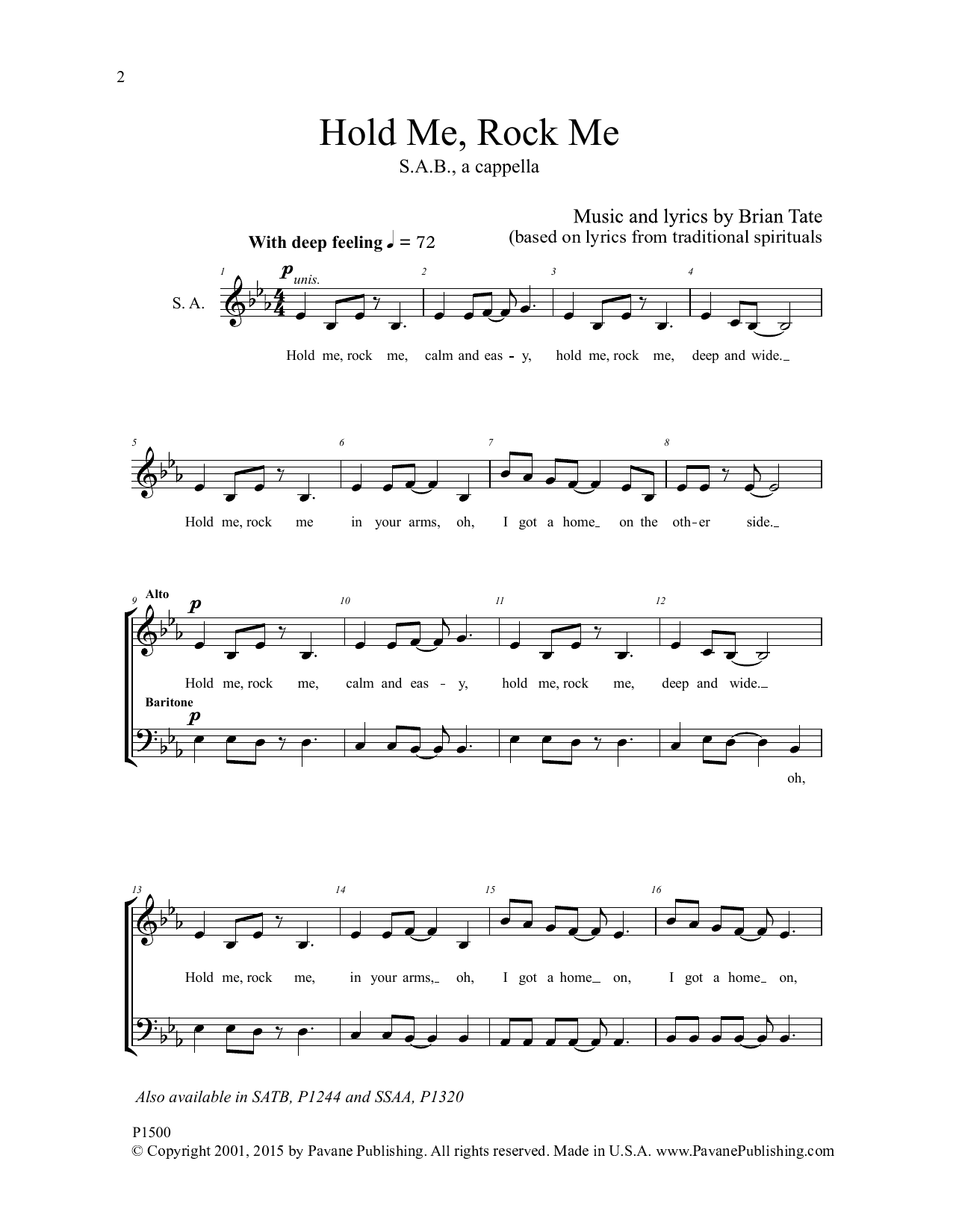 Hold Me, Rock Me Sheet Music