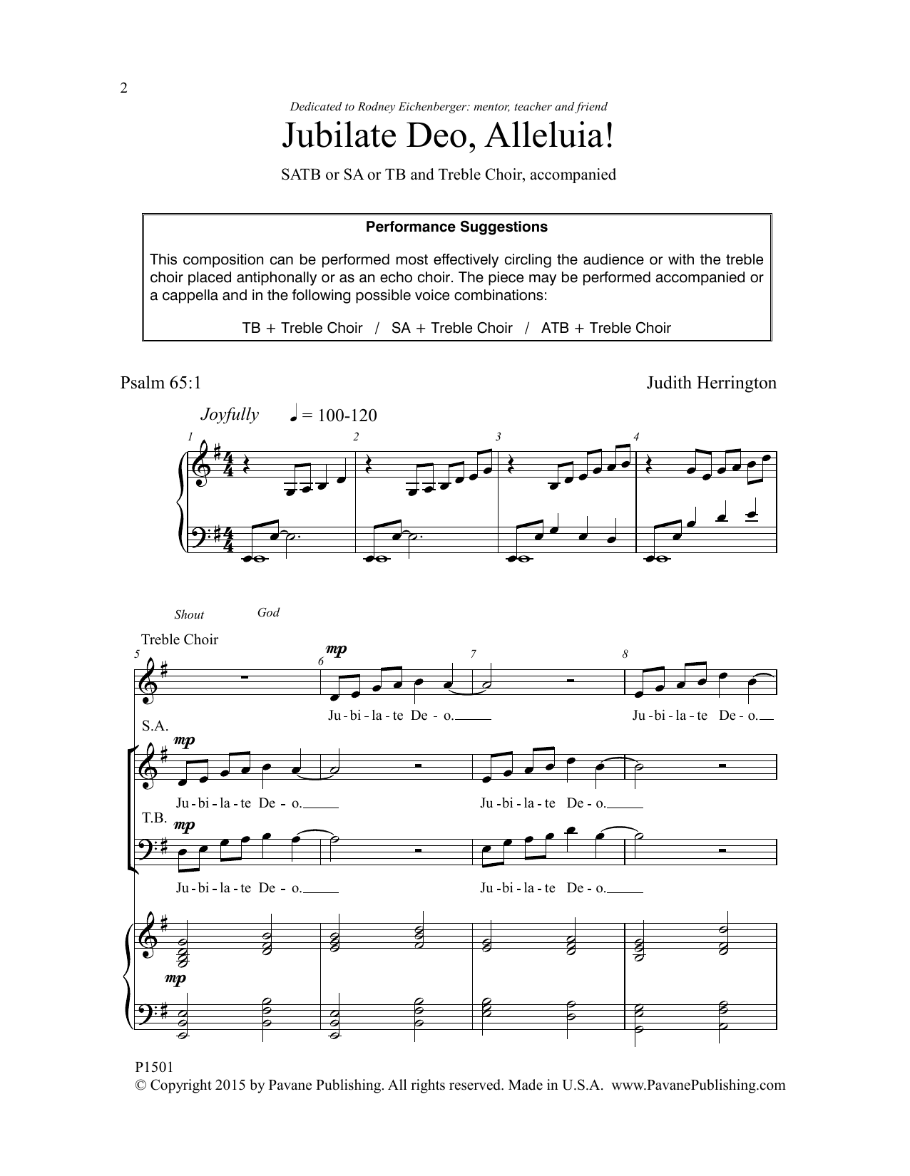 Jubilate Deo, Alleluia! Sheet Music