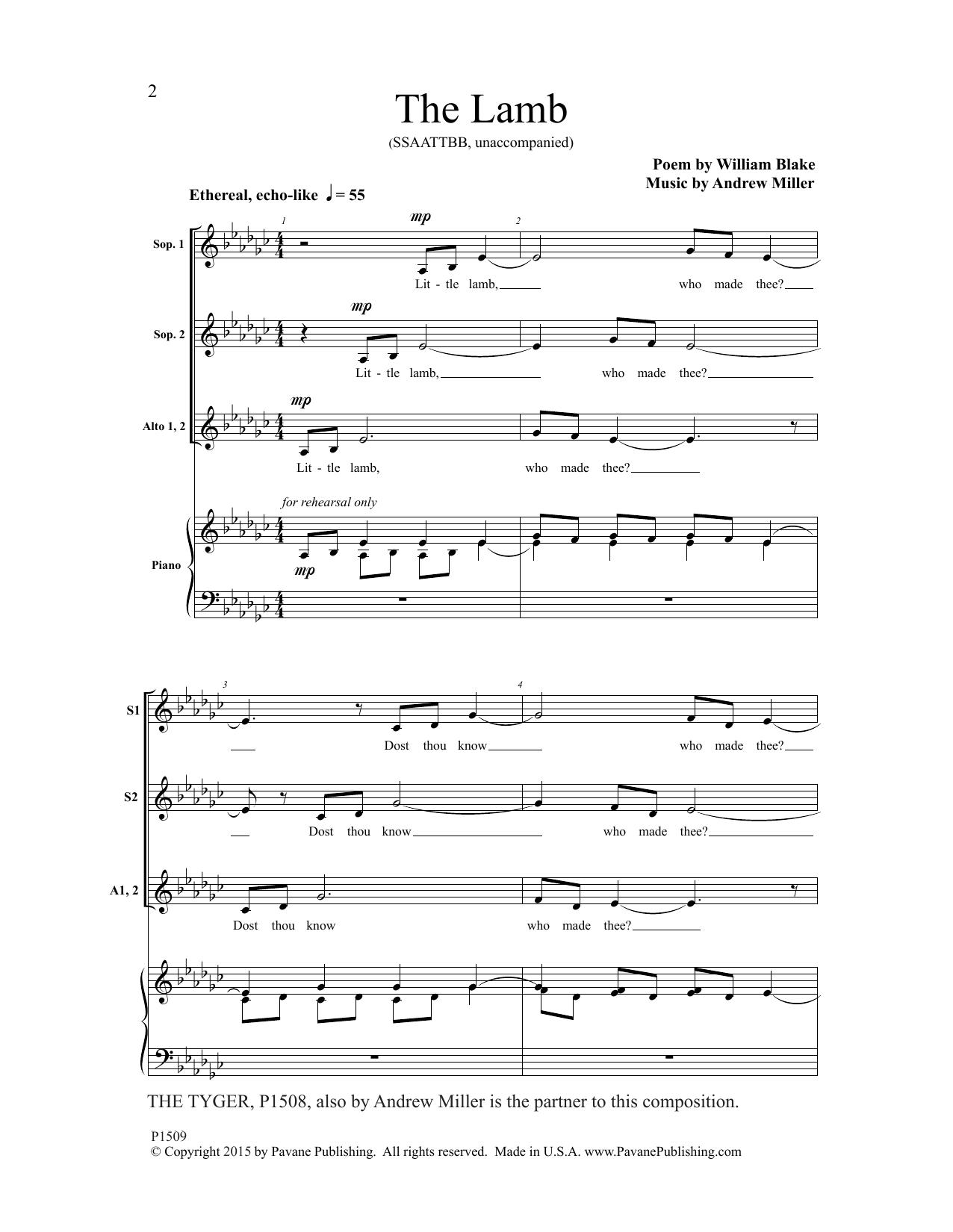 The Lamb Sheet Music