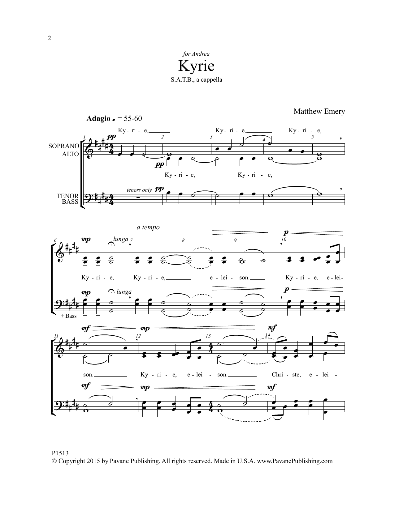 Missa Brevis Boreal Sheet Music