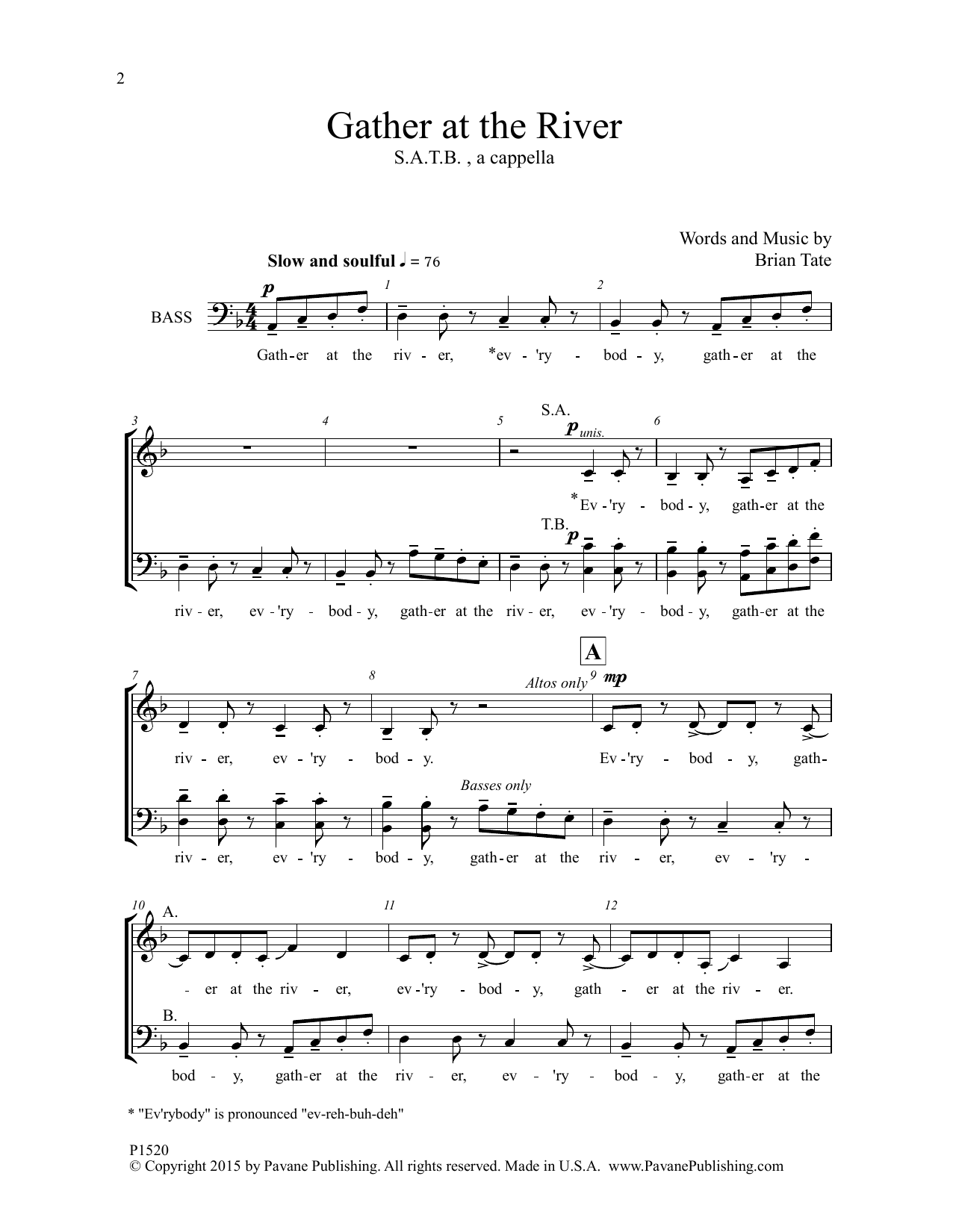 Gather at the River Sheet Music