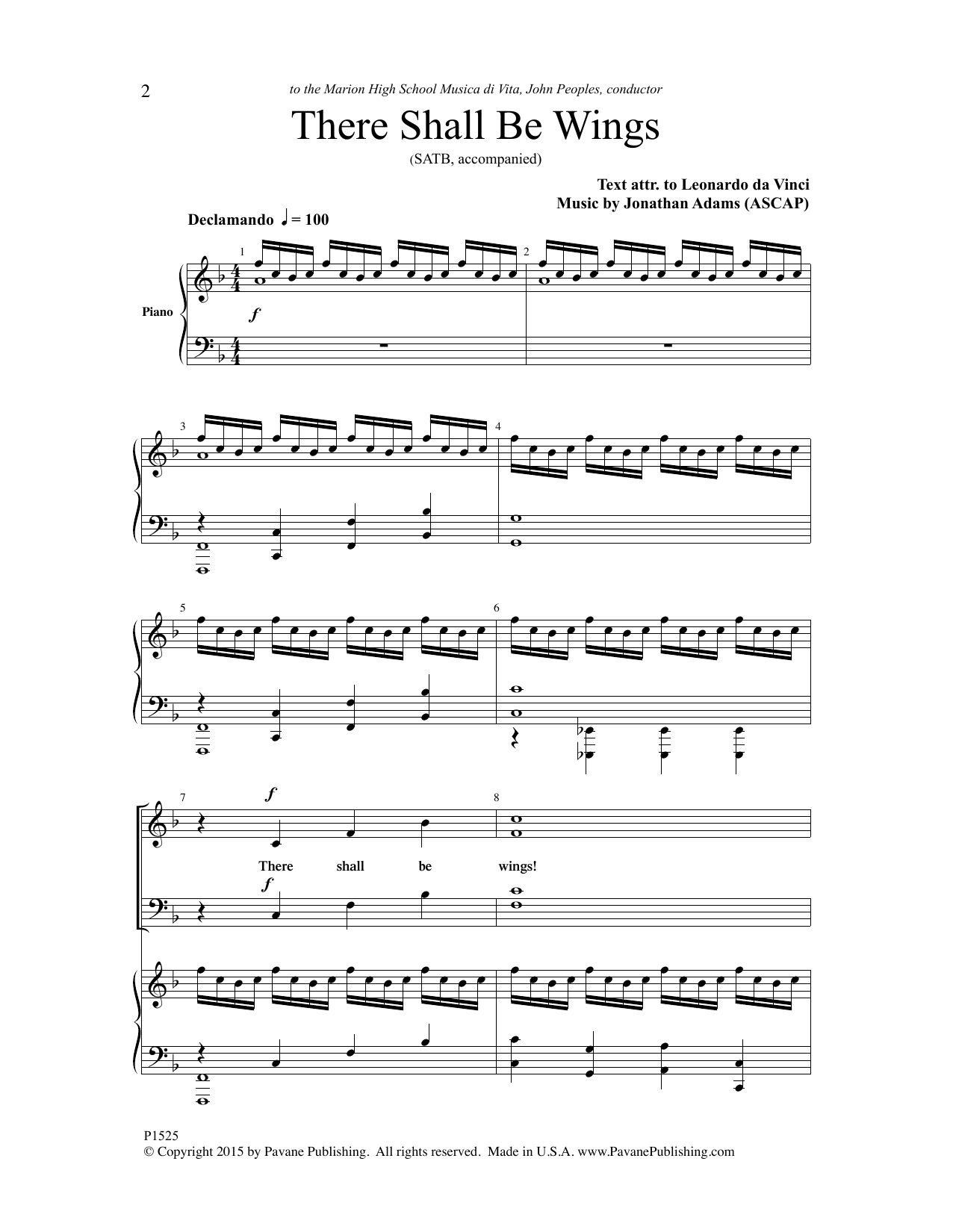 There Shall Be Wings Sheet Music