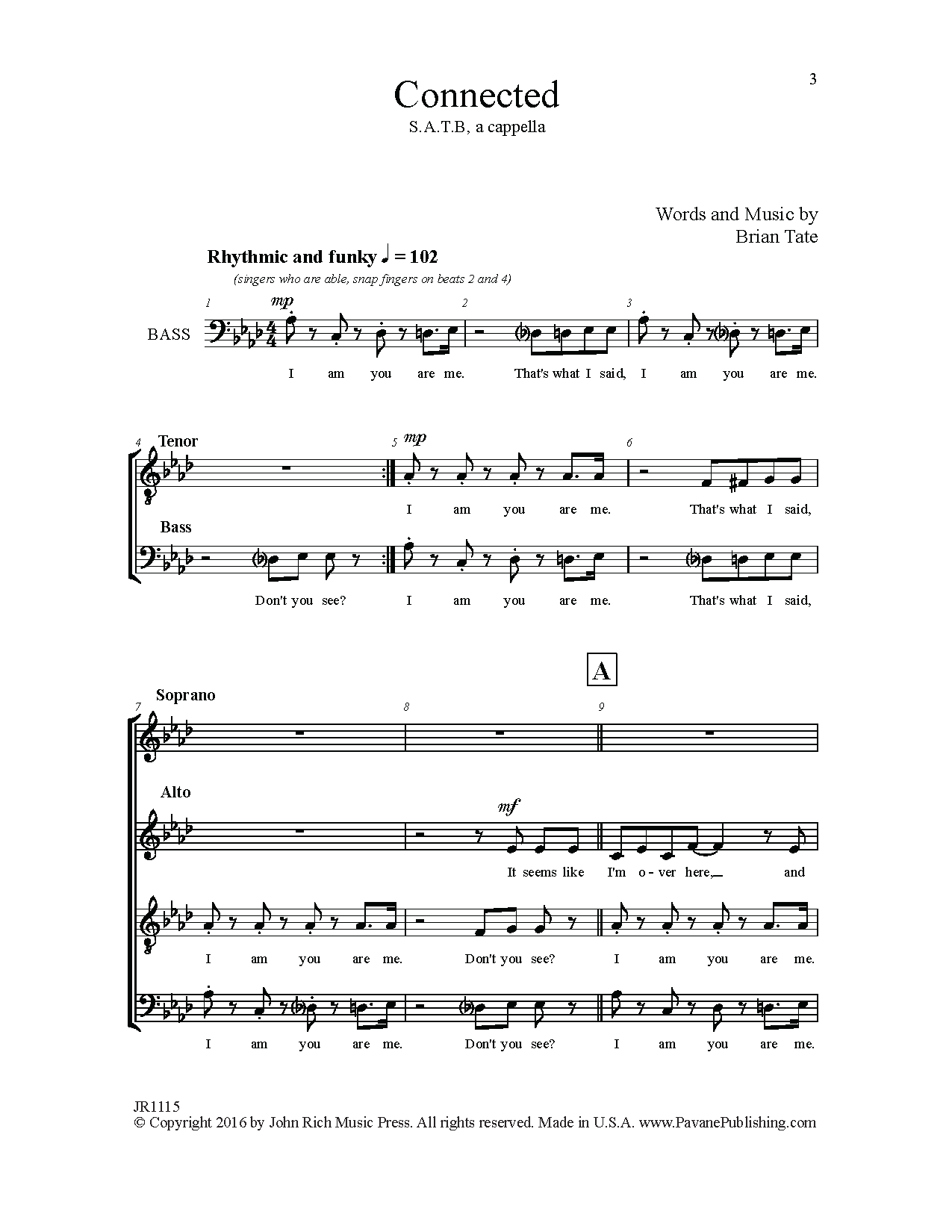 Connected Sheet Music
