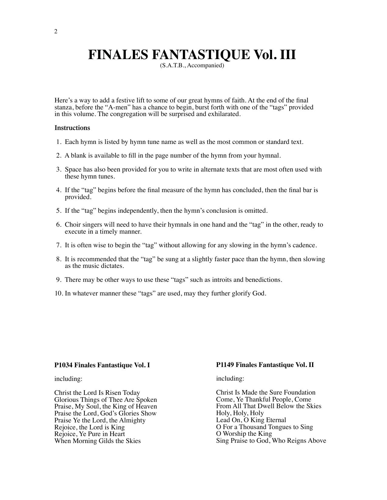 Finales Fantastique Vol. III Sheet Music