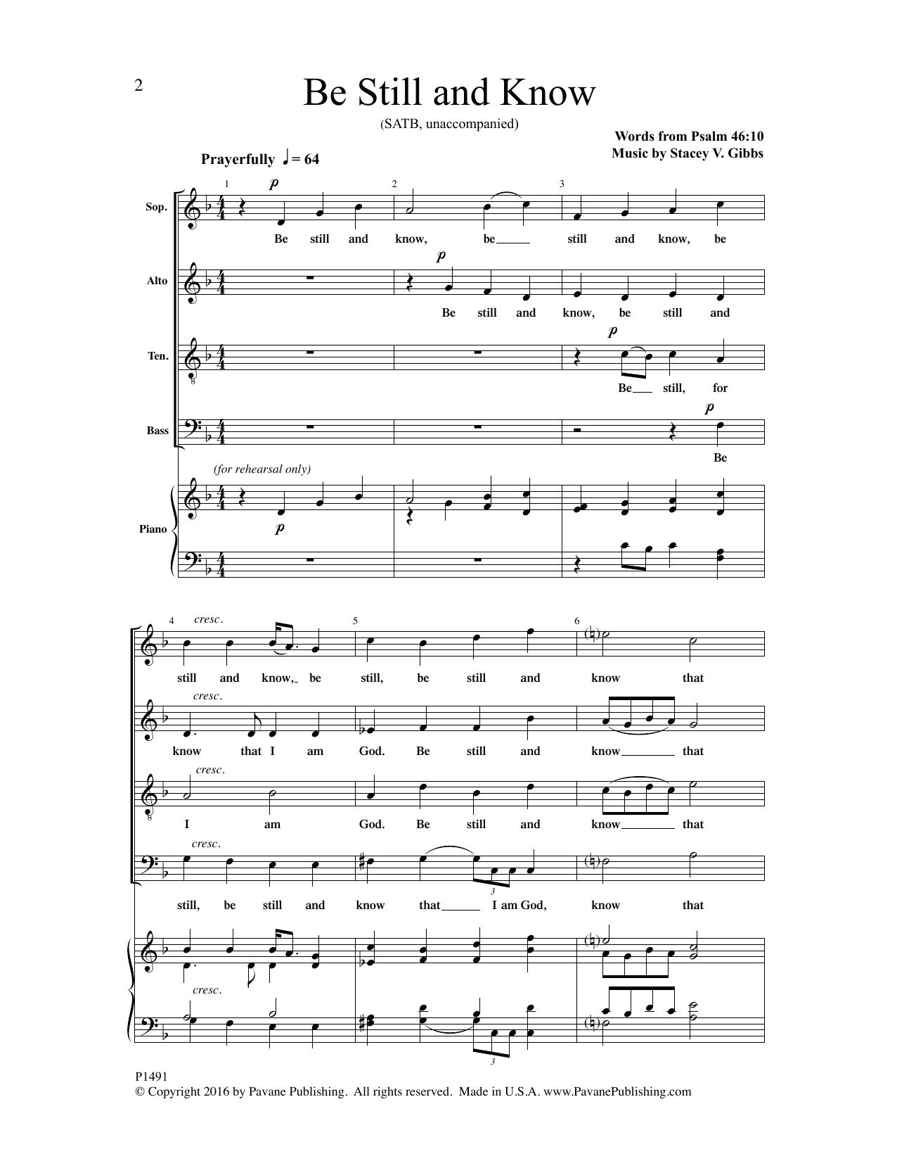 Be Still and Know Sheet Music