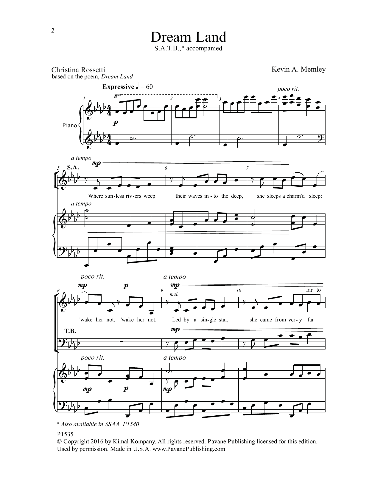 Dream Land Sheet Music