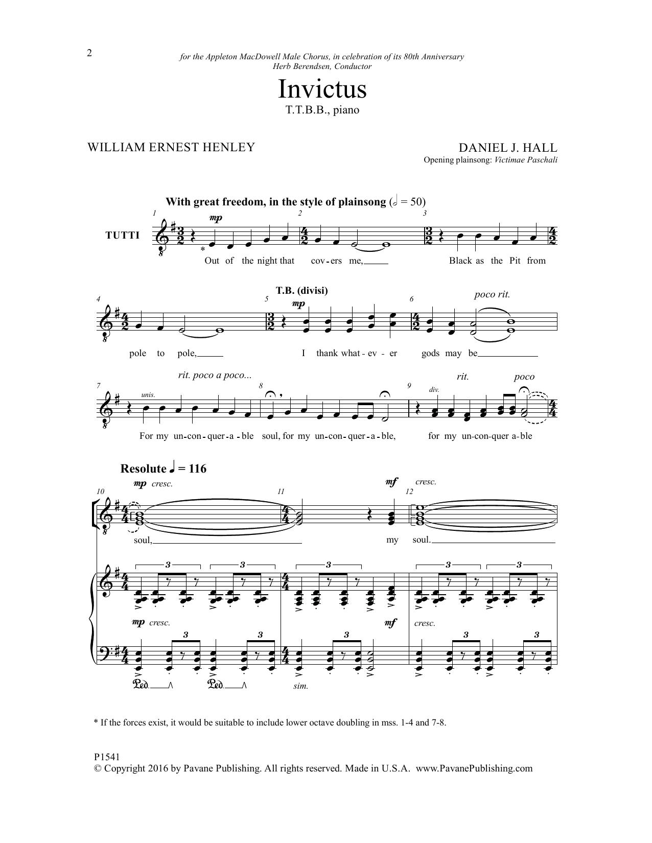 Invictus Sheet Music