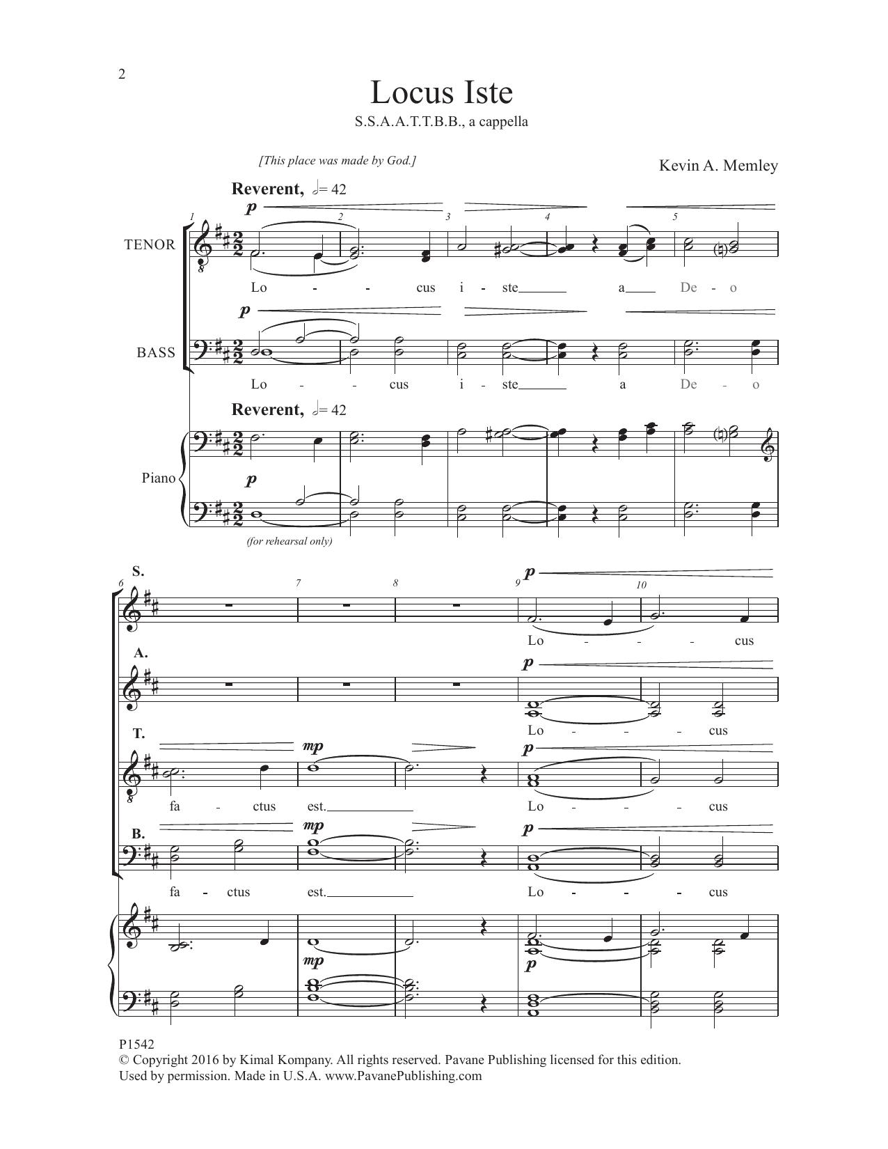 Locus Iste Sheet Music
