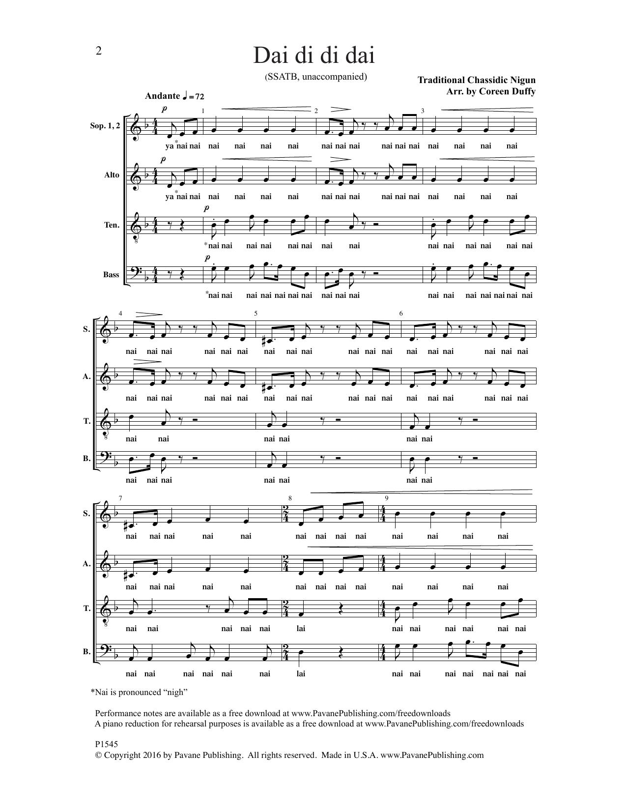 Dai Di Di Dai Sheet Music