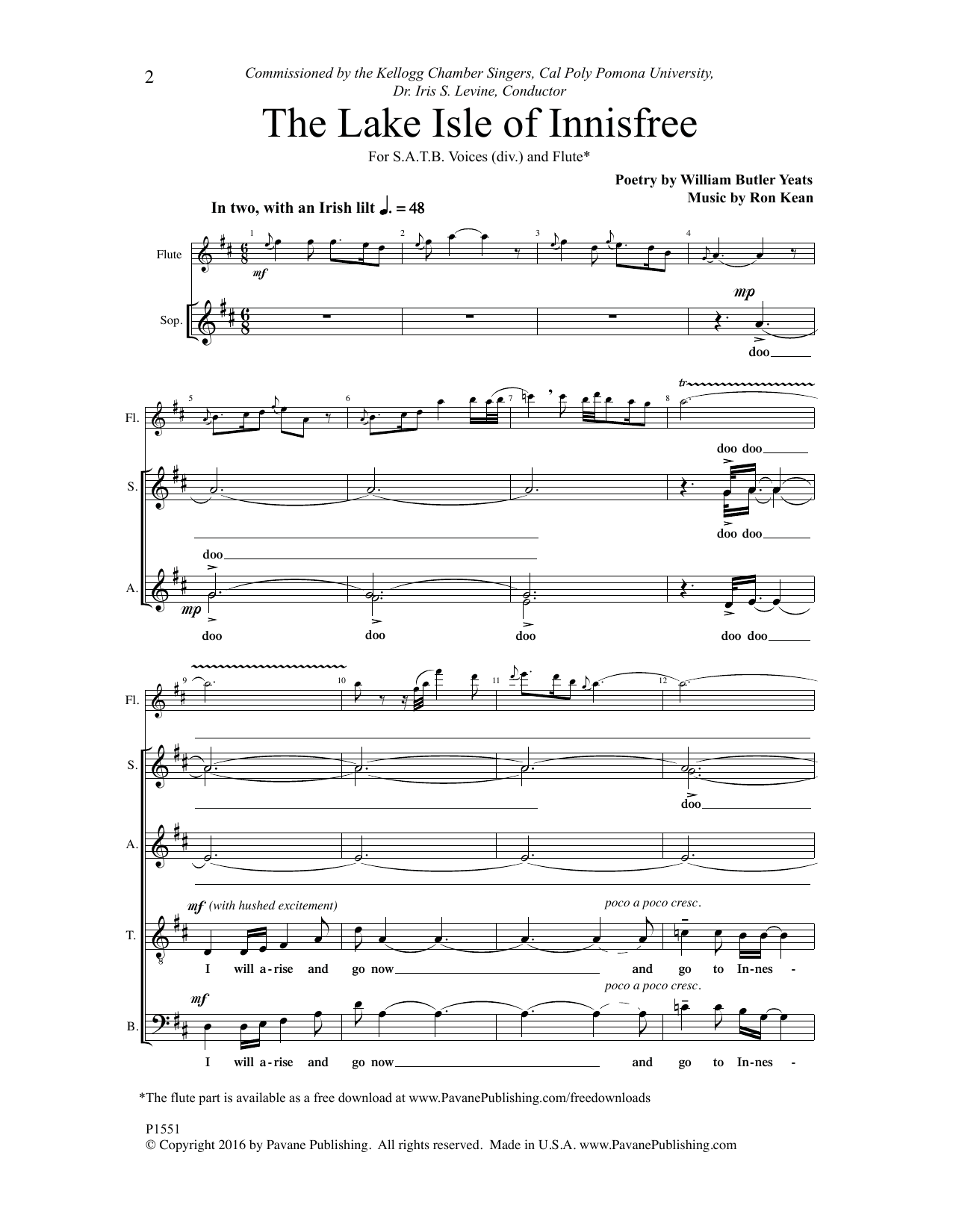 The Lake Isle of Innisfree Sheet Music