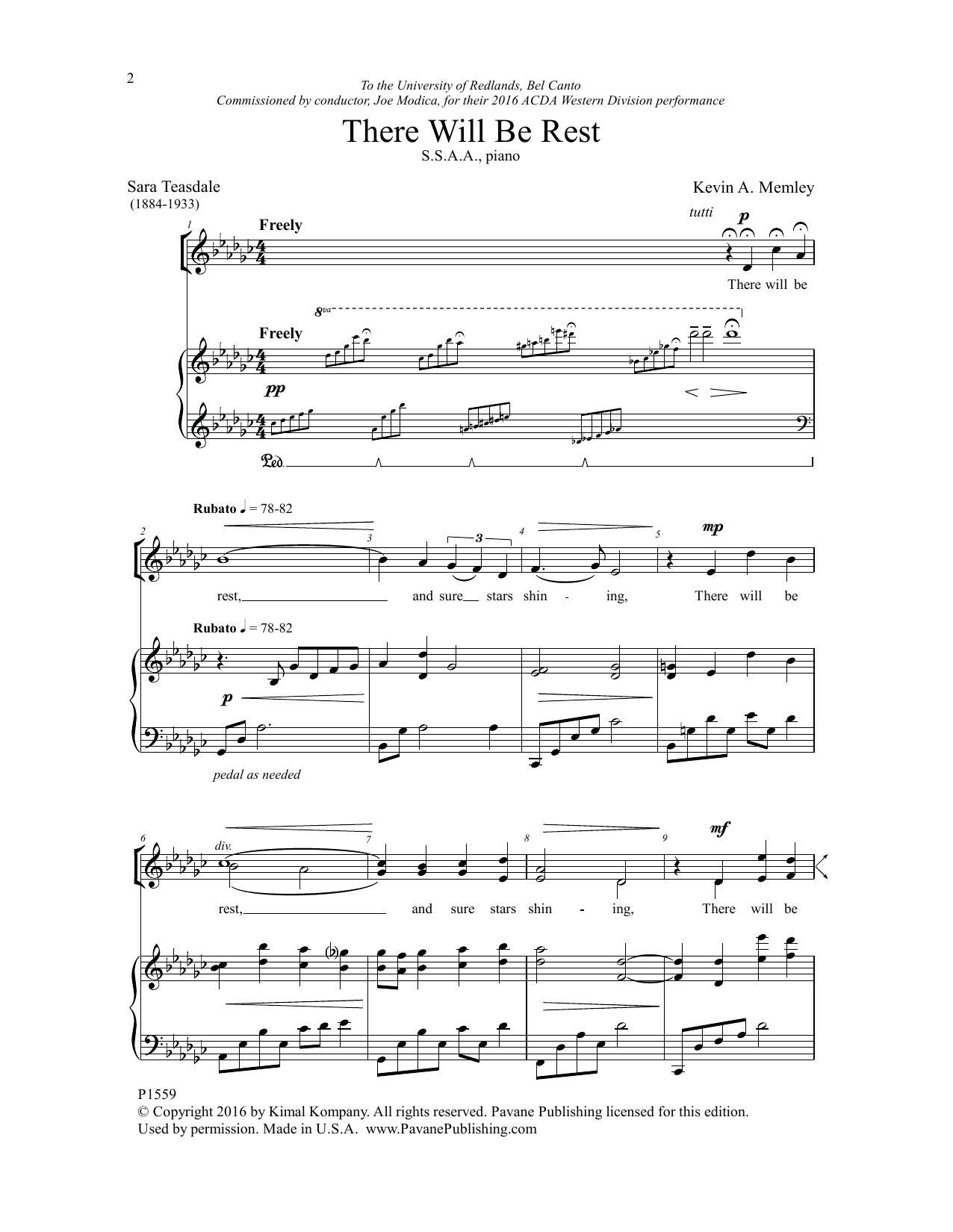 There Will Be Rest Sheet Music