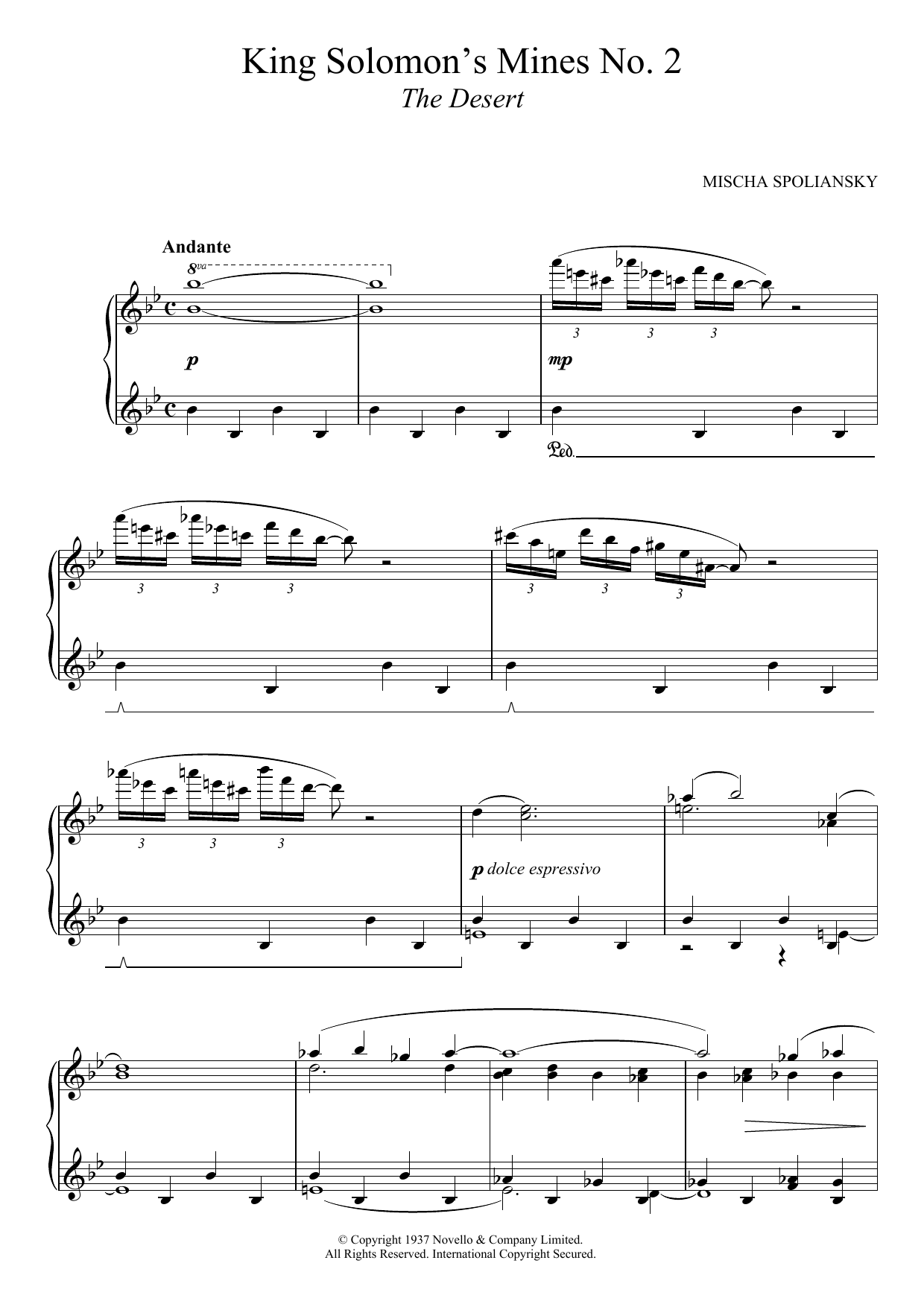 King Solomon's Mines 2: The Desert Sheet Music
